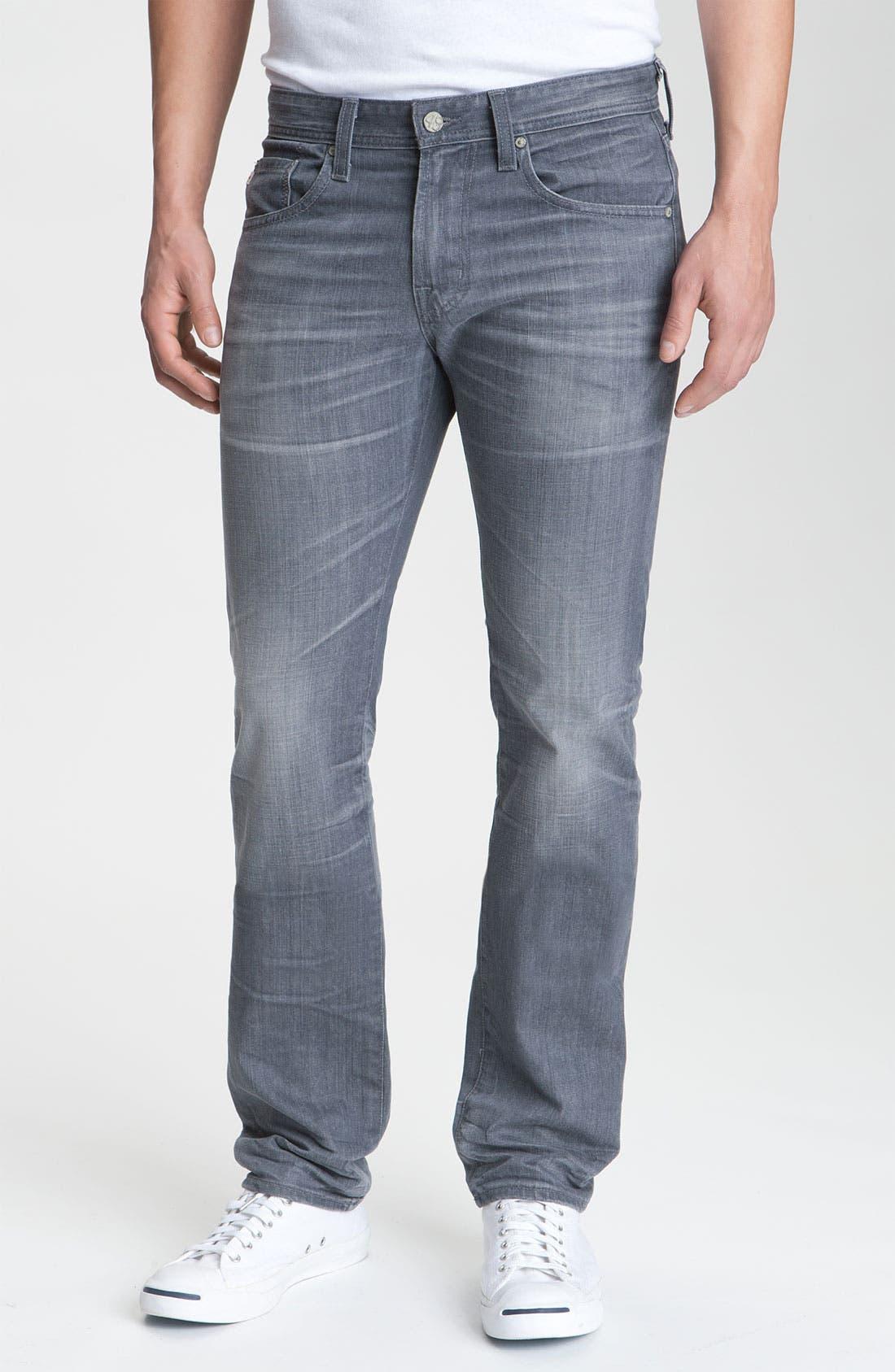 AG, 'Matchbox' Slim Fit Jeans, Main thumbnail 1, color, 020