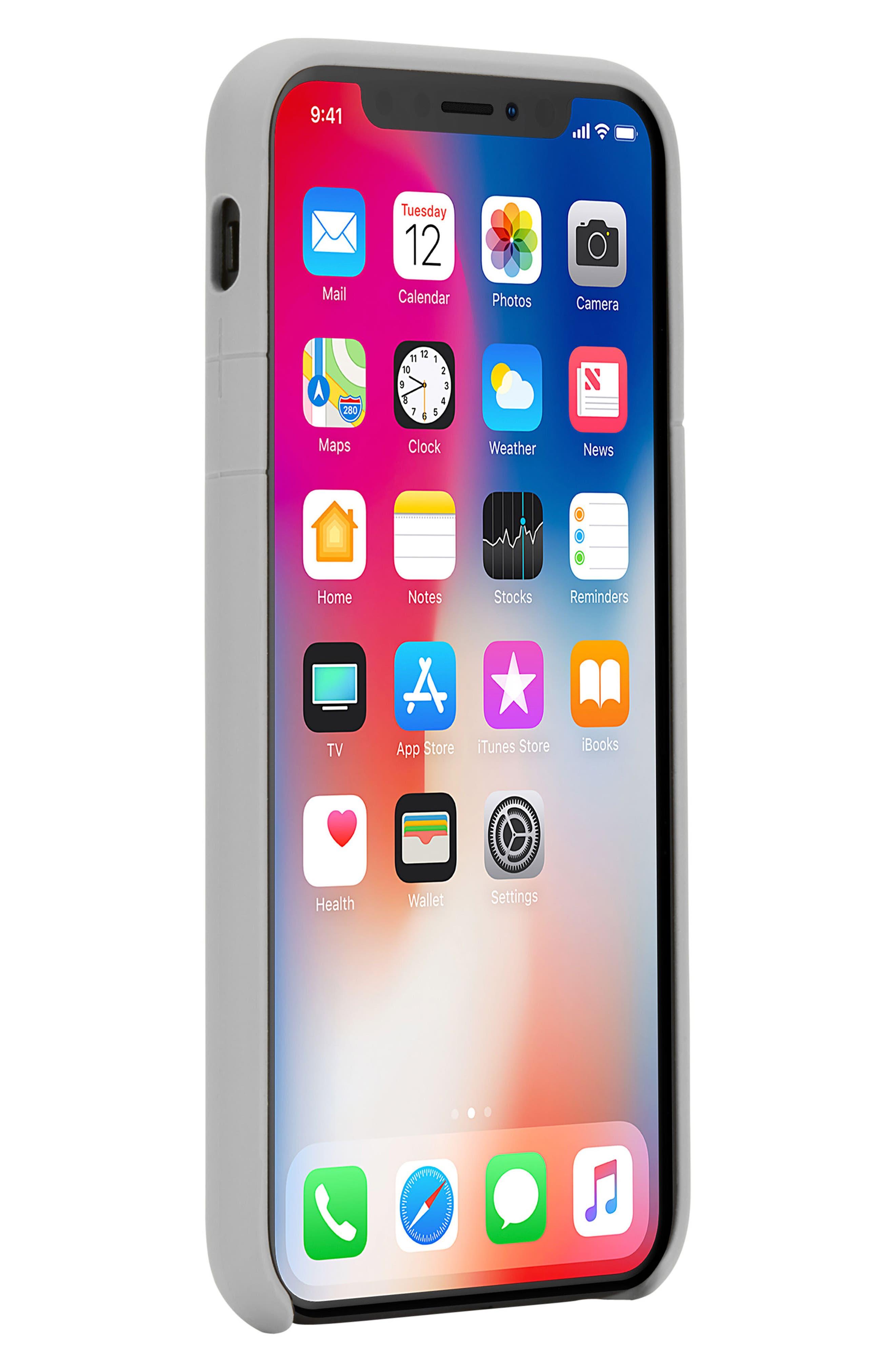 INCASE DESIGNS, Facet iPhone X & Xs Case, Alternate thumbnail 2, color, SLATE