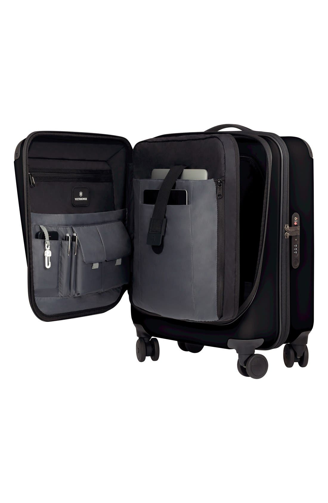 VICTORINOX SWISS ARMY<SUP>®</SUP>, Spectra 2.0 Hard Sided Rolling 22-Inch Carry-On, Alternate thumbnail 2, color, BLACK
