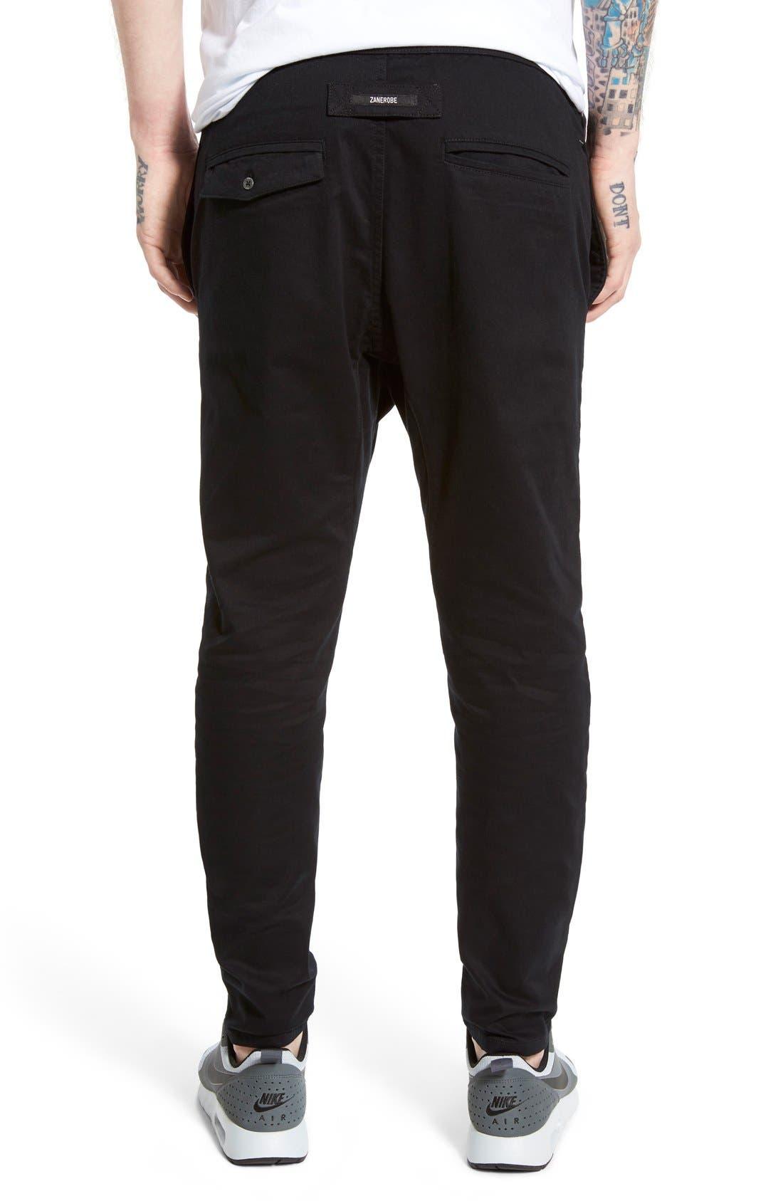ZANEROBE, Salerno Stretch Woven Jogger Pants, Alternate thumbnail 3, color, BLACK