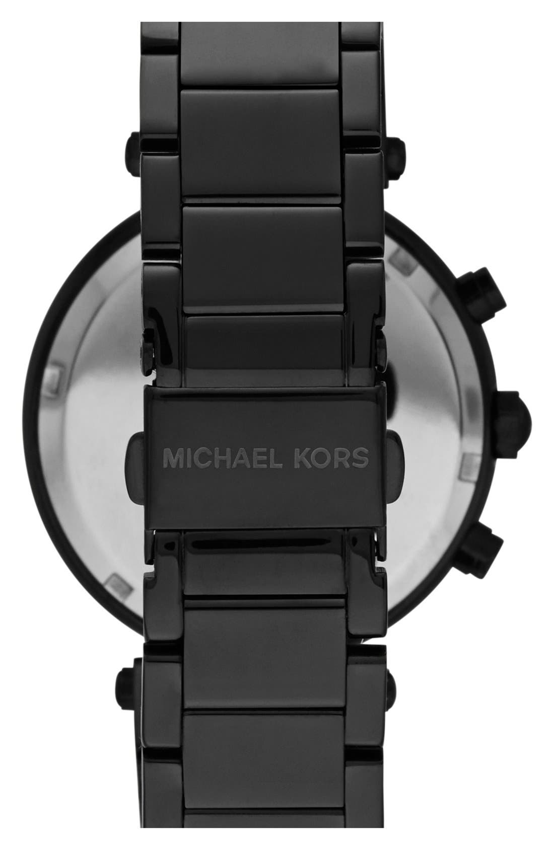 MICHAEL KORS ACCESS, Michael Kors 'Parker' Chronograph Bracelet Watch, 39mm, Alternate thumbnail 2, color, 001