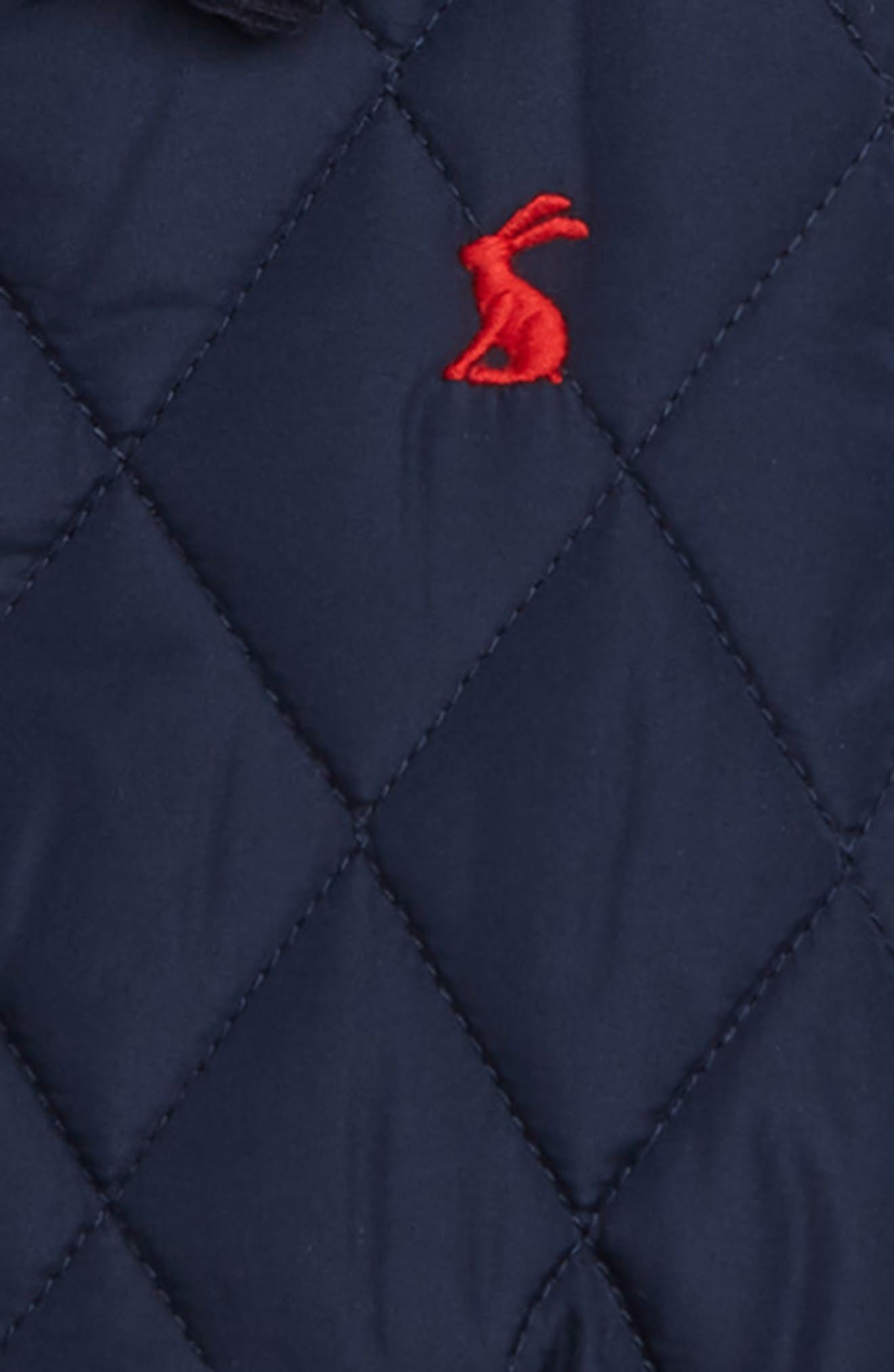 JOULES, Milford Quilted Barn Jacket, Alternate thumbnail 2, color, FRNAVY