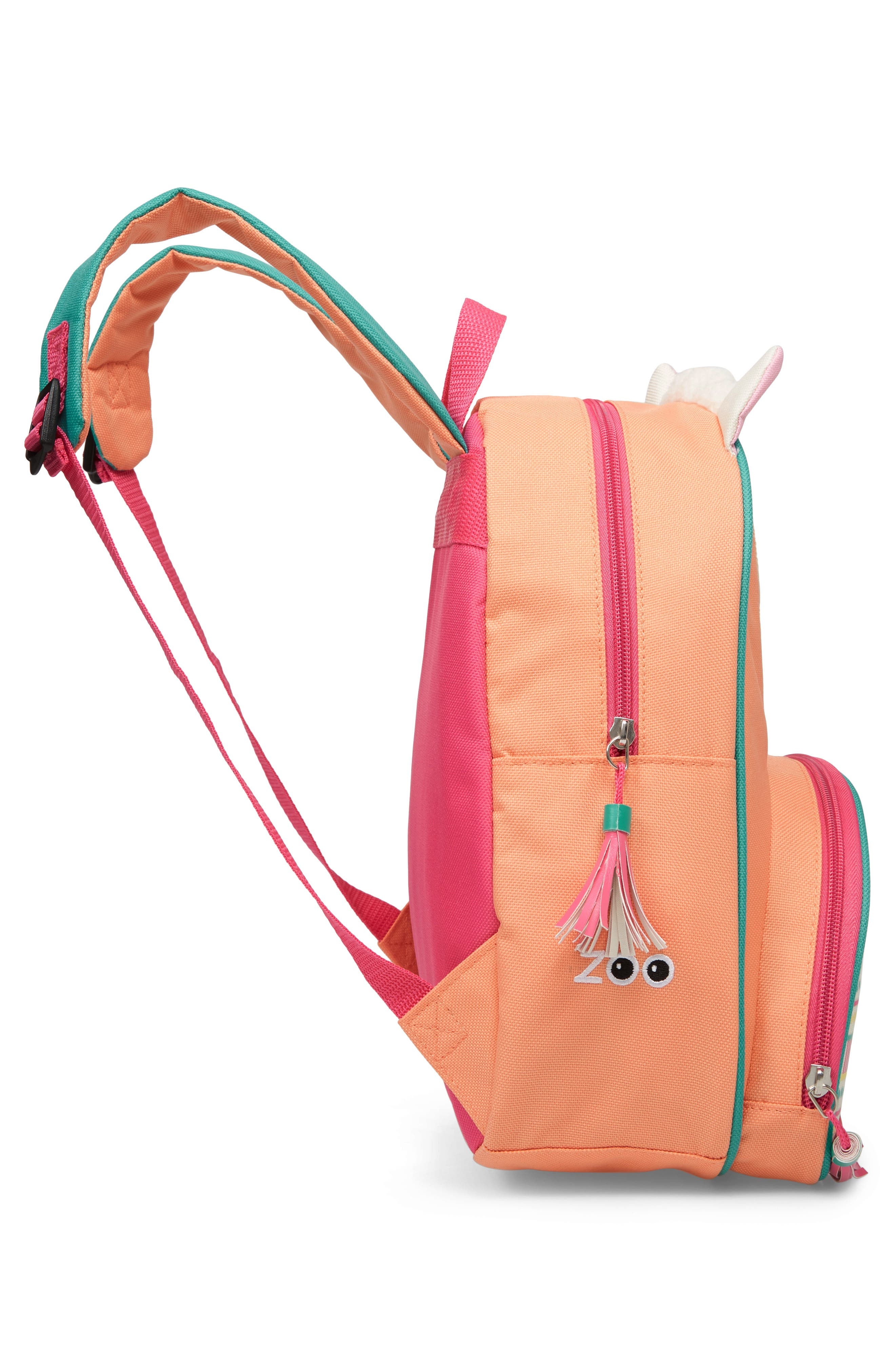 SKIP HOP, Zoo Pack Llama Backpack, Alternate thumbnail 4, color, PINK MULTI