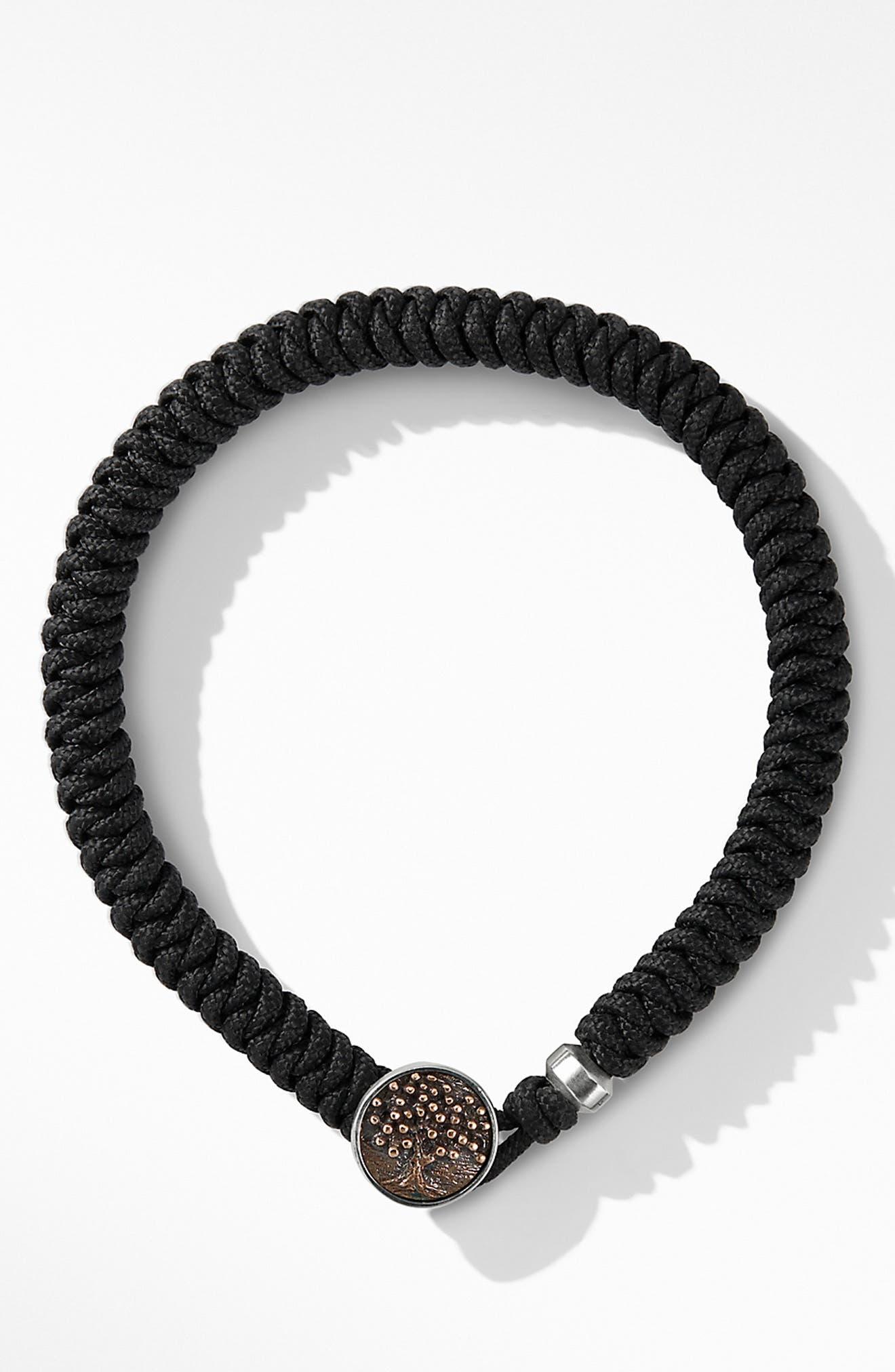 DAVID YURMAN, Woven Tree of Life Bracelet, Alternate thumbnail 2, color, BLACK