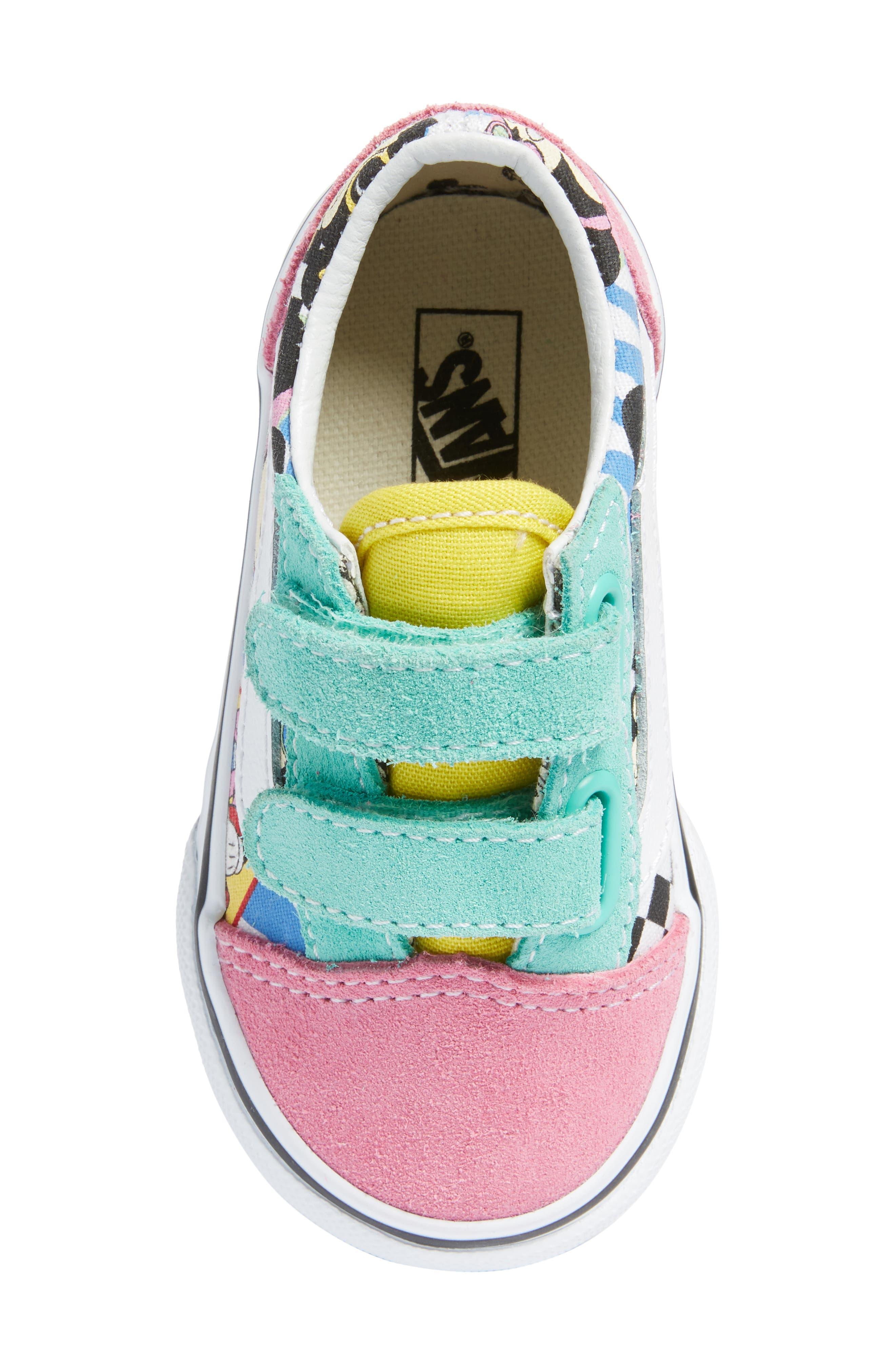 VANS, x Disney Old Skool V Sneaker, Alternate thumbnail 5, color, 650