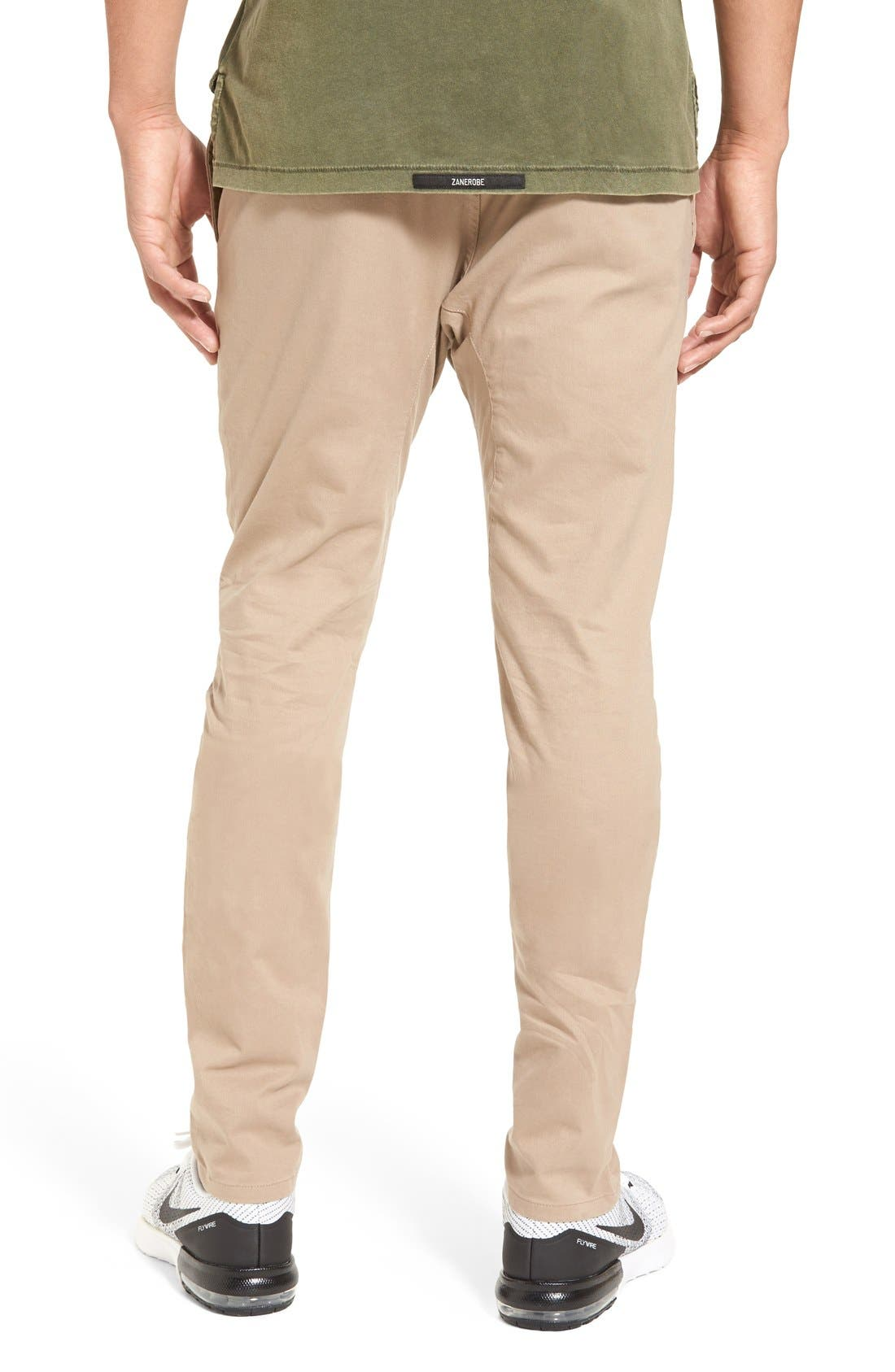 ZANEROBE, 'Salerno' Chino Jogger Pants, Alternate thumbnail 4, color, TAN