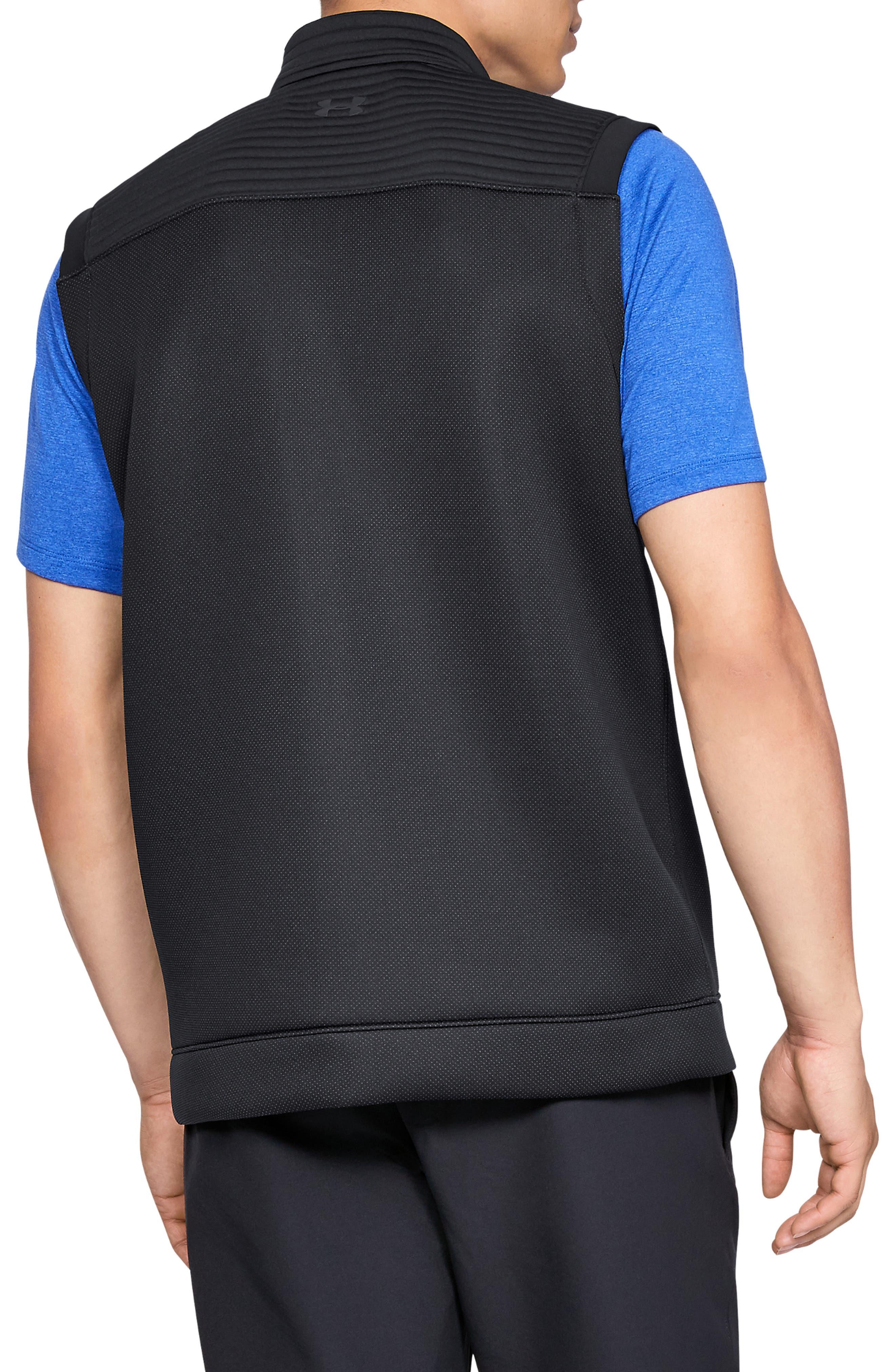 UNDER ARMOUR, Storm Daytona Vest, Alternate thumbnail 2, color, BLACK/ BLACK/ BLACK