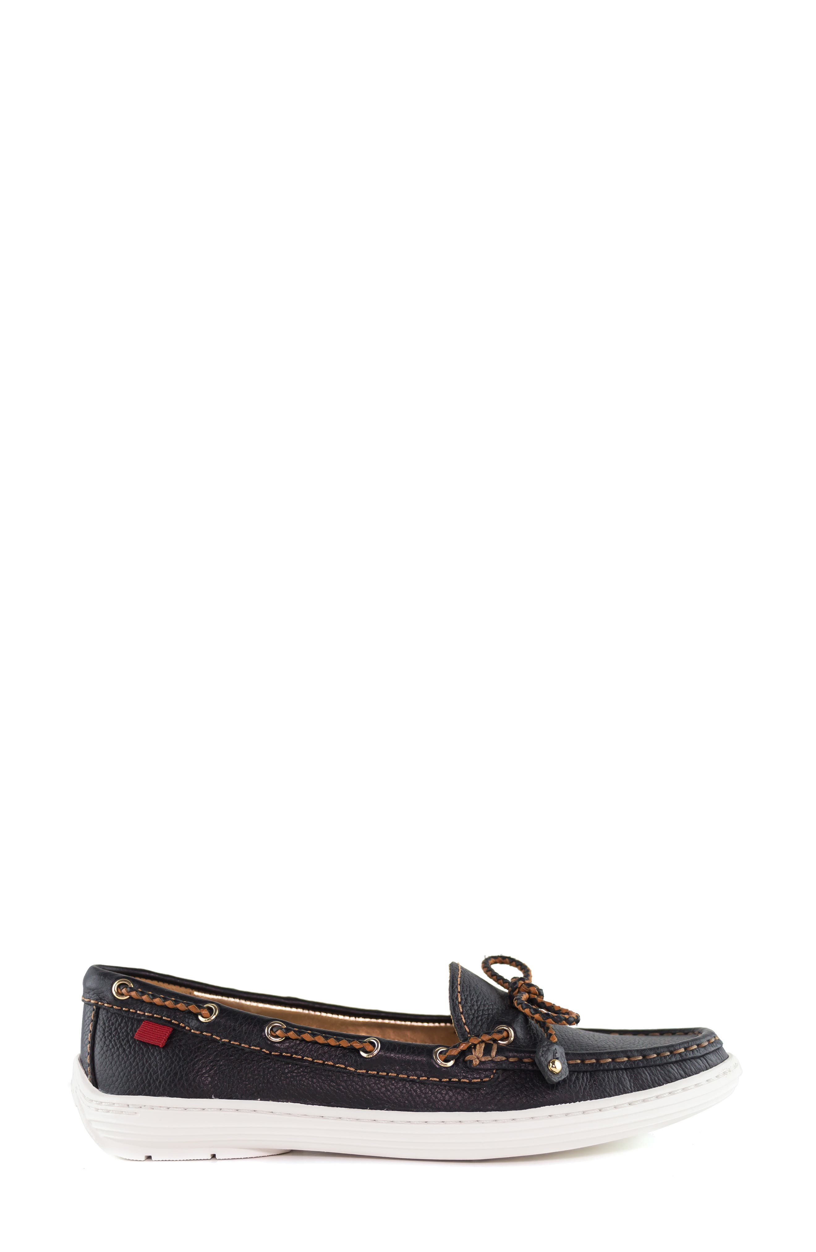 MARC JOSEPH NEW YORK, Pacific Loafer, Alternate thumbnail 3, color, BLACK LEATHER