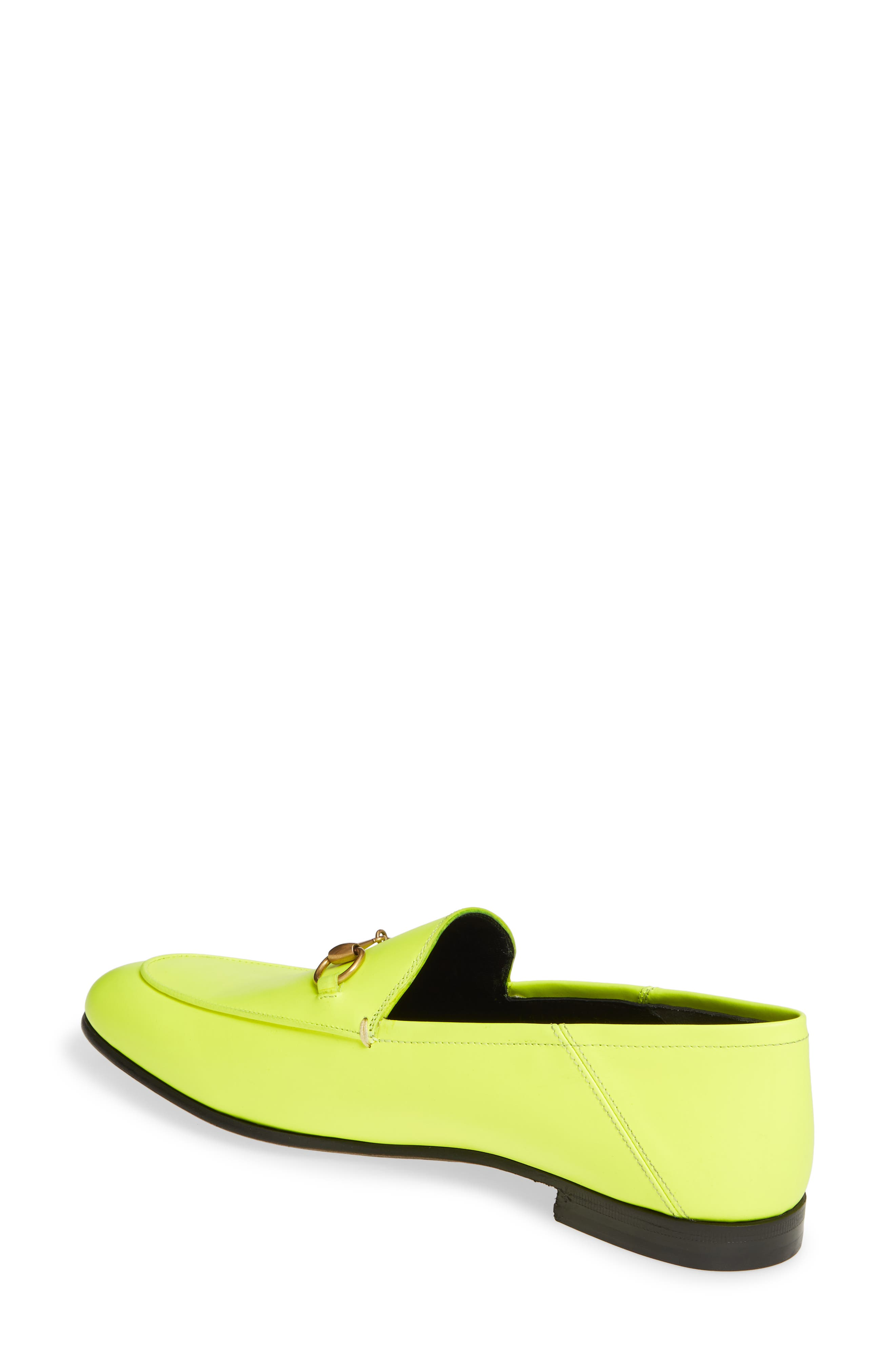 GUCCI, Brixton Convertible Loafer, Alternate thumbnail 2, color, YELLOW FLUO LEATHER