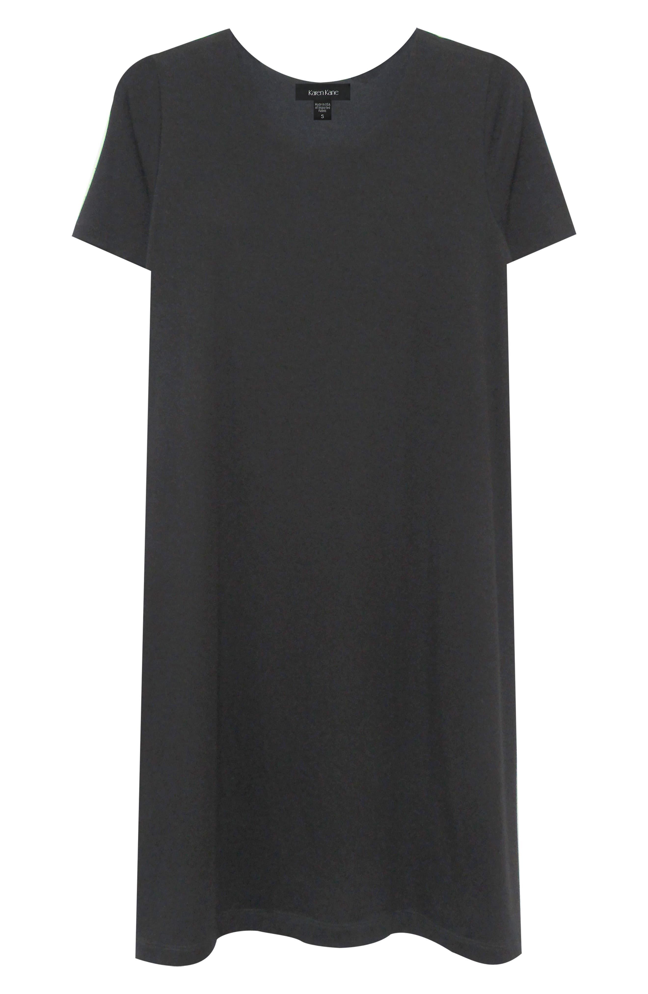 KAREN KANE, Abby T-Shirt Dress, Alternate thumbnail 3, color, BLACK