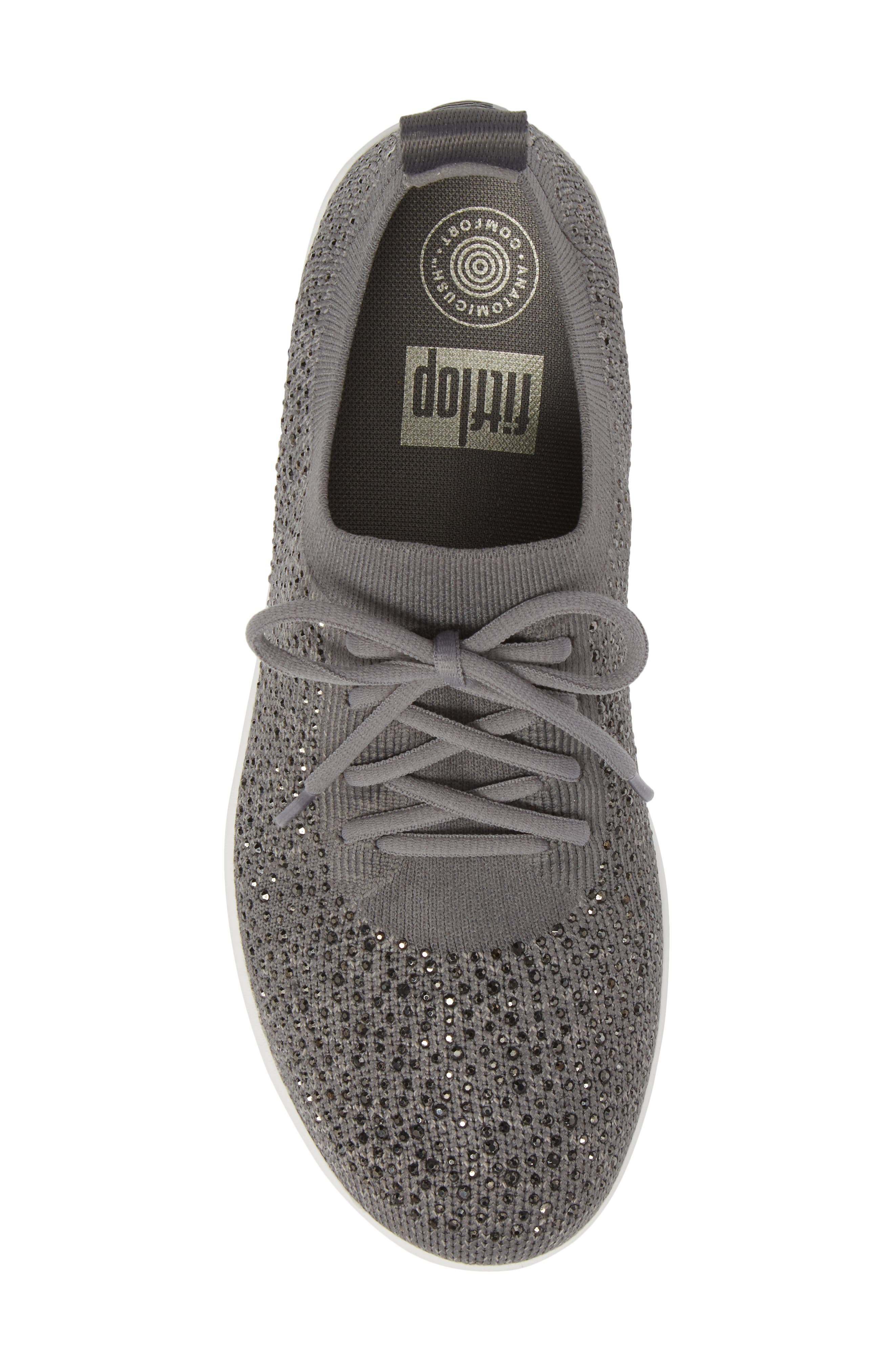 FITFLOP, Uberknit<sup>™</sup> F-Sporty Sneaker, Alternate thumbnail 5, color, CHARCOAL/ DUSTY GREY