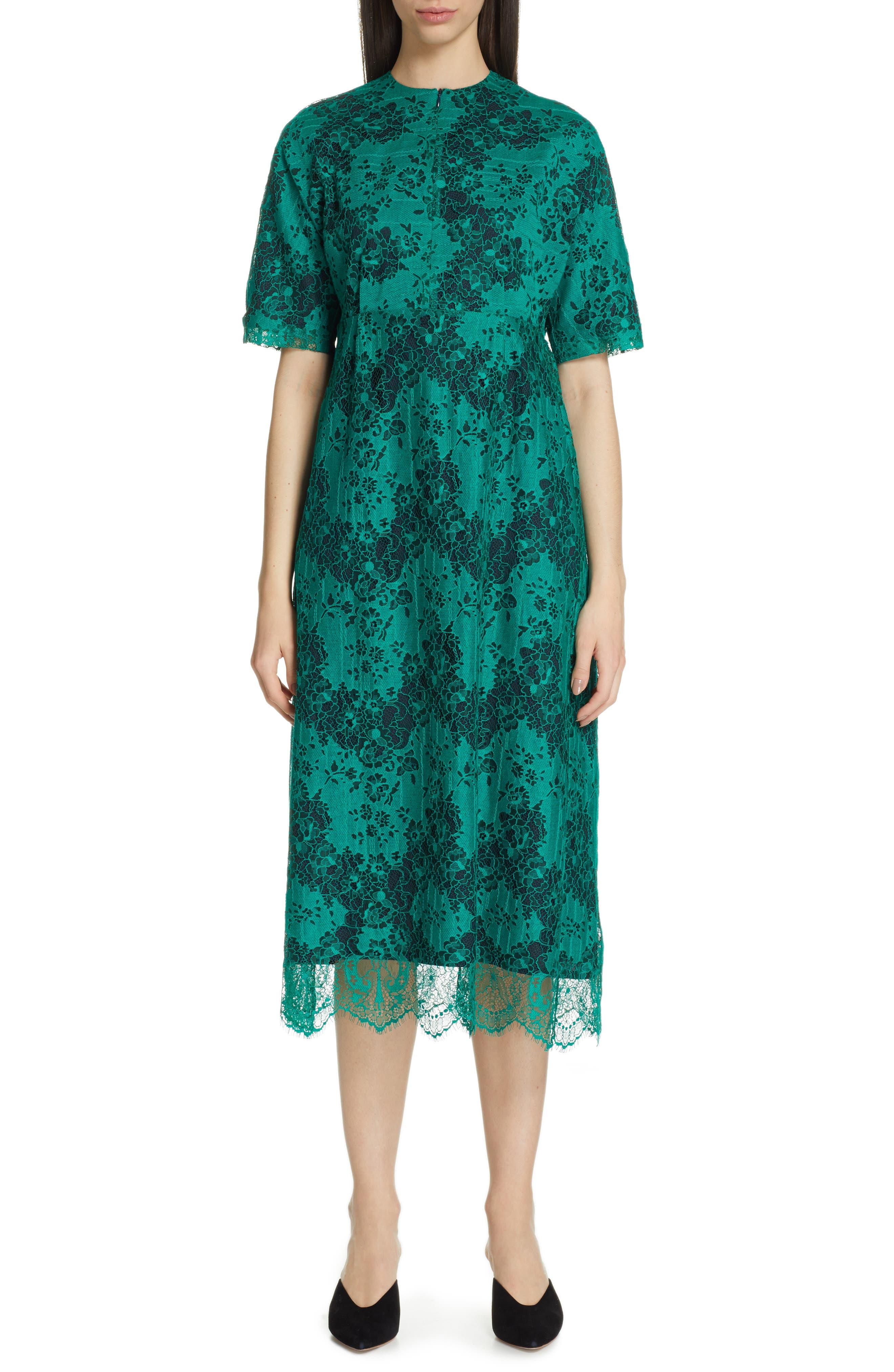 Roseanna Lace Midi Dress, 8 FR - Green