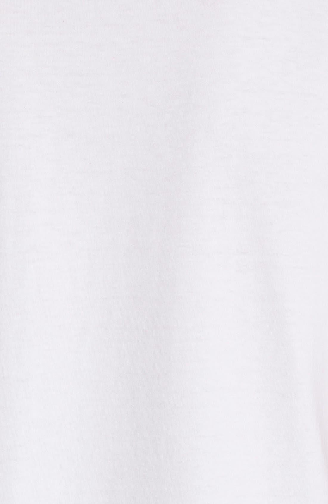 COMME DES GARÇONS PLAY, Heart Face Graphic T-Shirt, Alternate thumbnail 5, color, WHITE