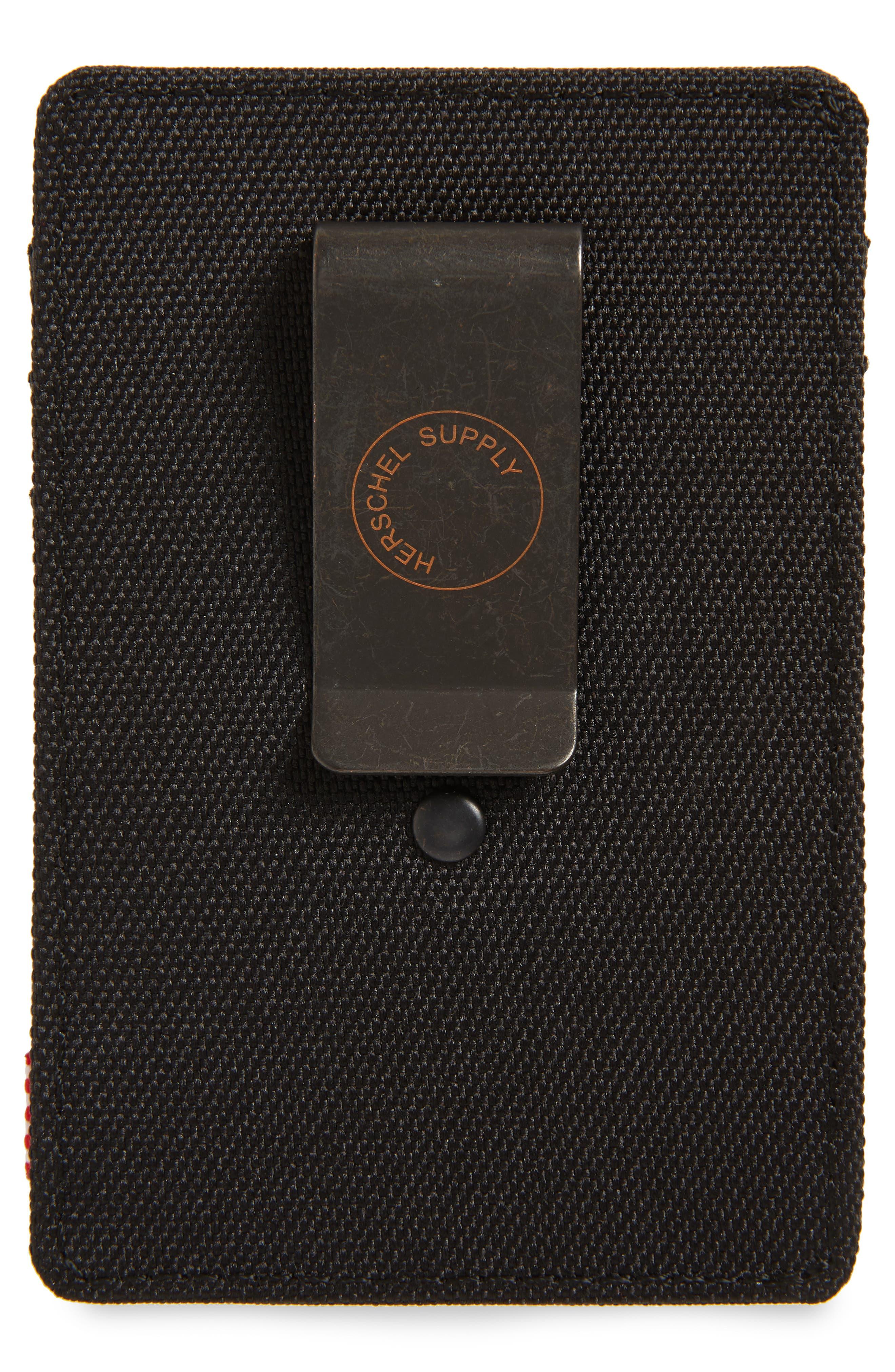 HERSCHEL SUPPLY CO., Raven Card Case, Alternate thumbnail 2, color, BLACK