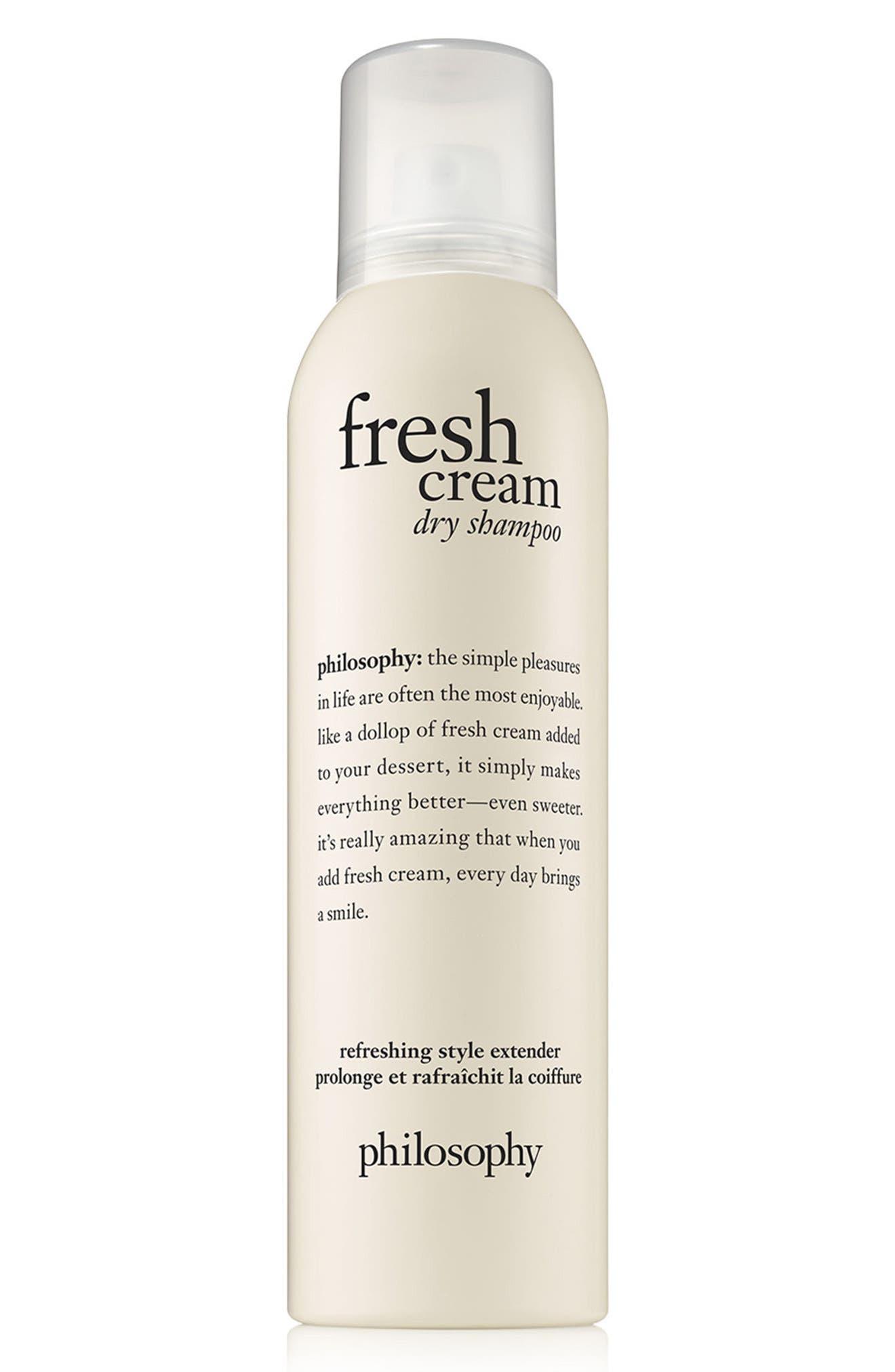 PHILOSOPHY, fresh cream dry shampoo, Main thumbnail 1, color, NO COLOR