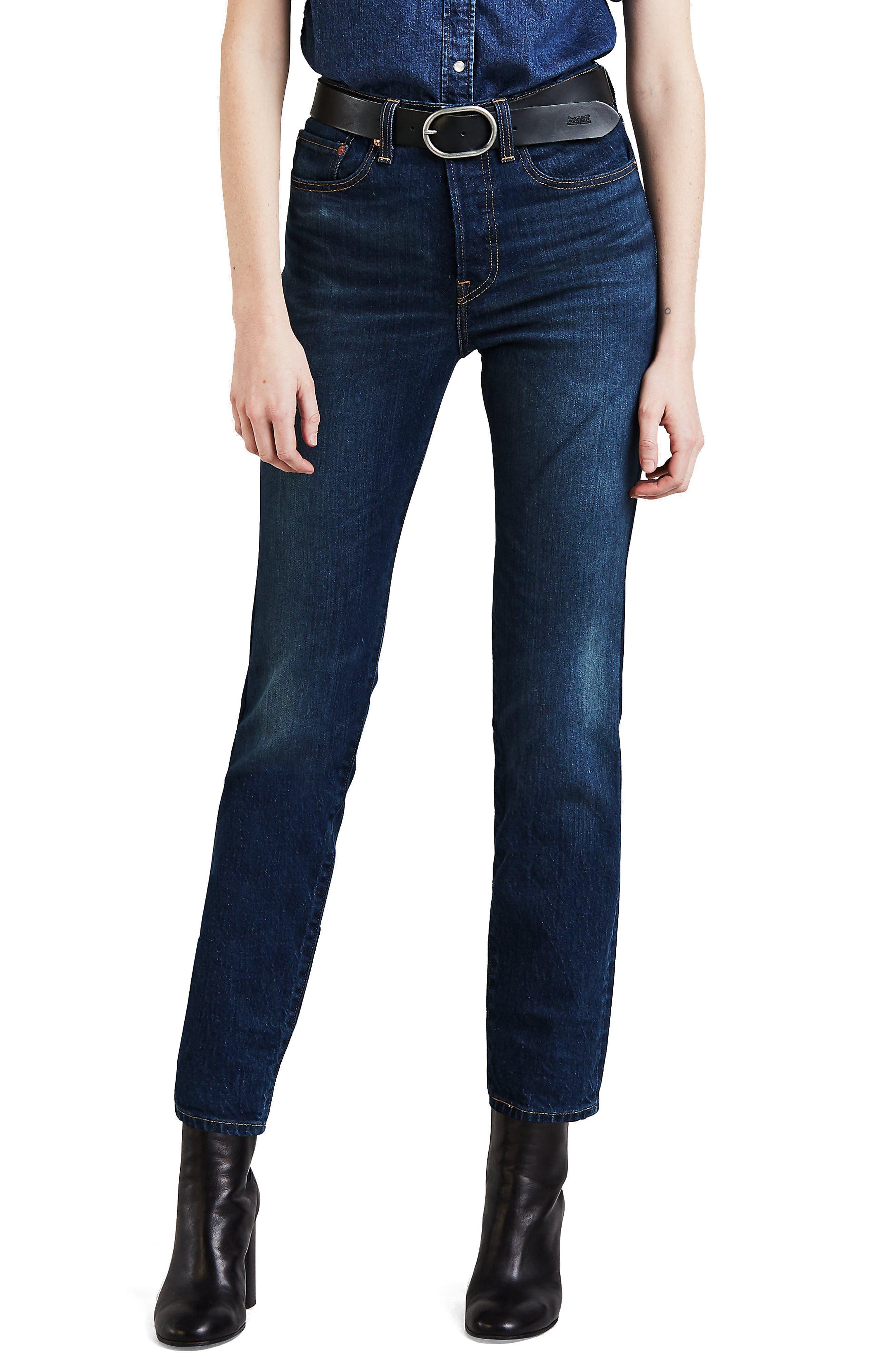 LEVI'S<SUP>®</SUP>, Wedgie Icon Fit High Waist Crop Jeans, Main thumbnail 1, color, AUTHENTIC FAVORITE