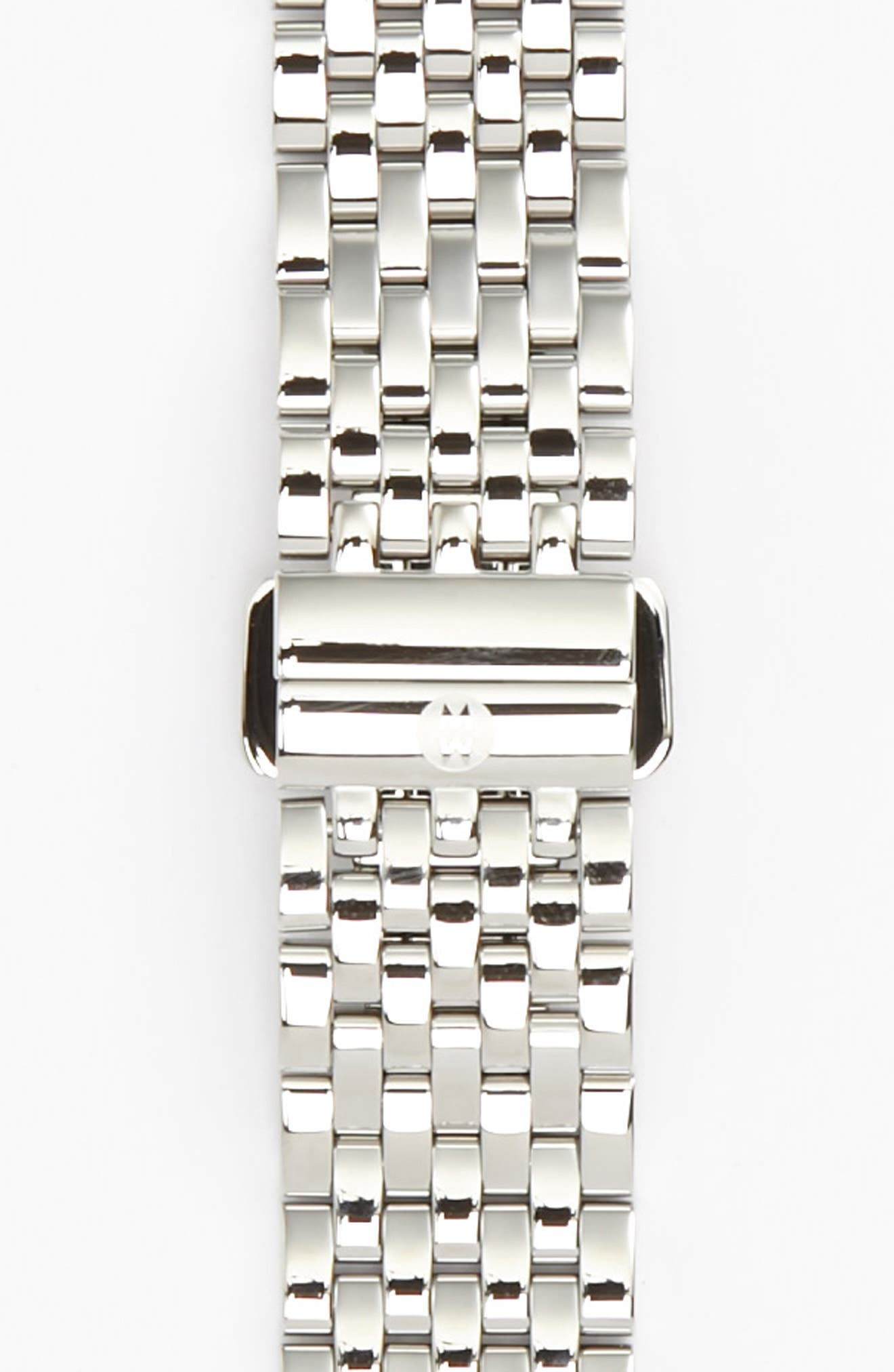 MICHELE, Serein 16 16mm Bracelet Watchband, Main thumbnail 1, color, SILVER