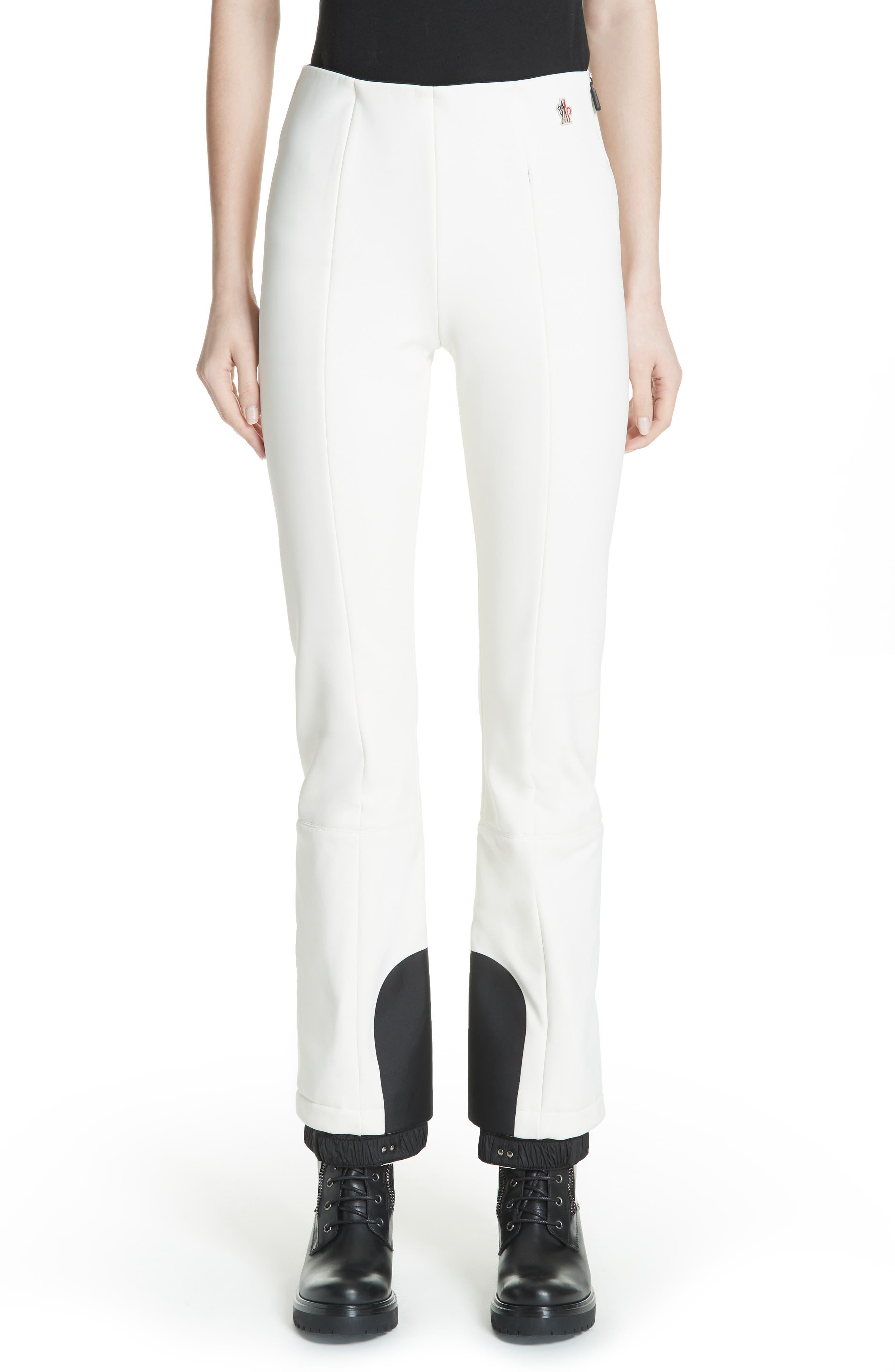 MONCLER, Skinny Stretch Ski Pants, Main thumbnail 1, color, WHITE