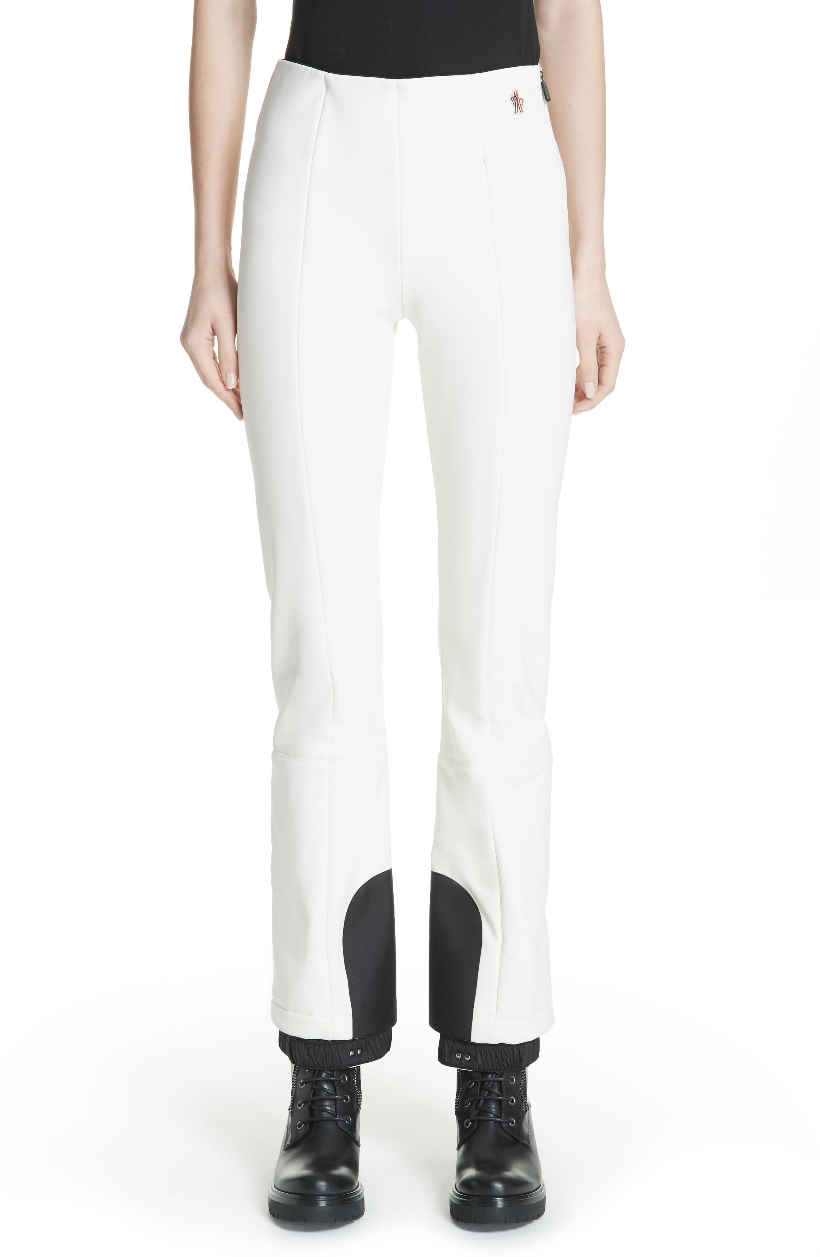 MONCLER Skinny Stretch Ski Pants, Main, color, WHITE