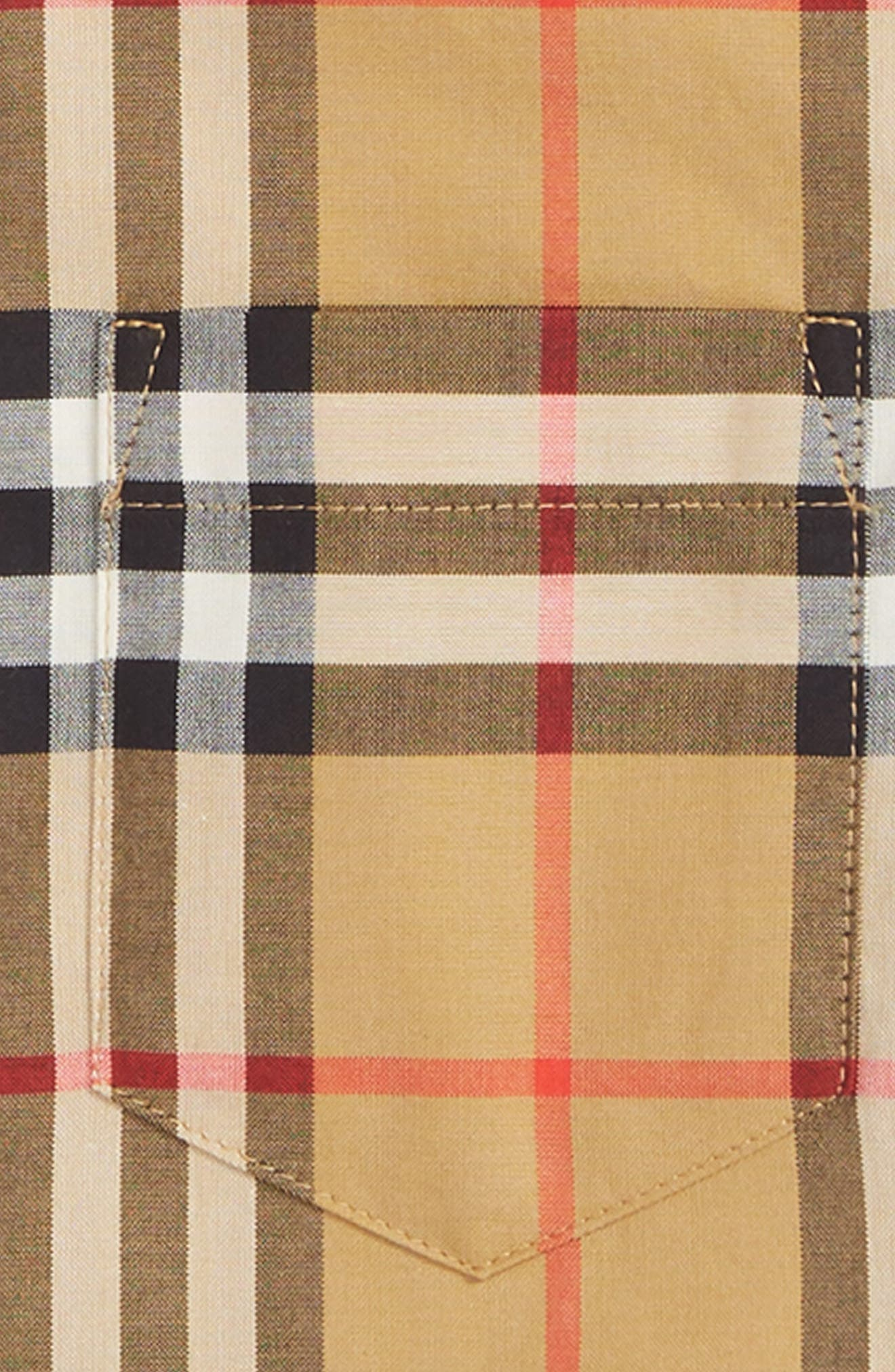 BURBERRY, Fred Check Shirt, Alternate thumbnail 2, color, 701