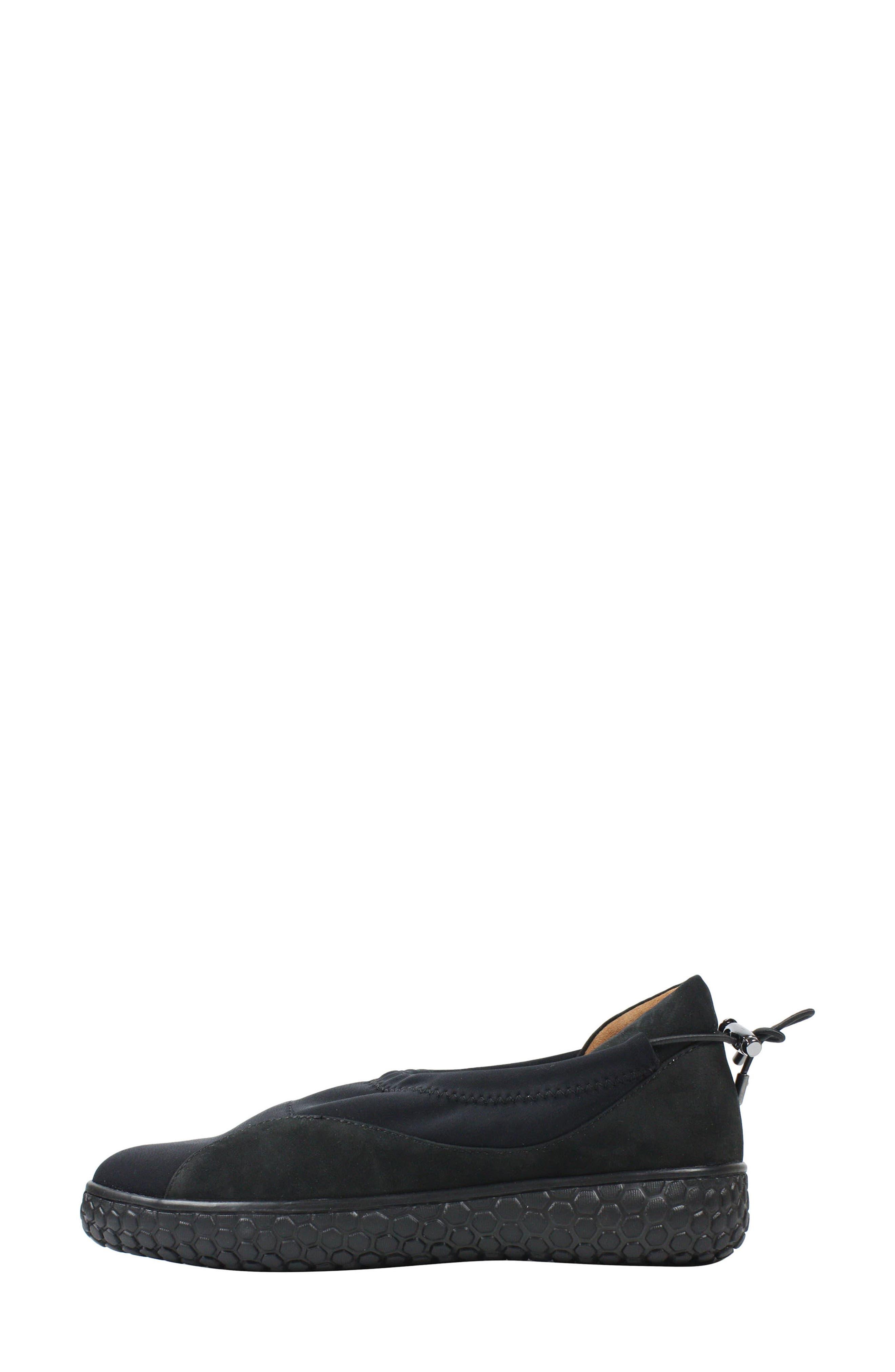 L'AMOUR DES PIEDS, Zaidee Flat, Alternate thumbnail 3, color, BLACK NUBUCK LEATHER