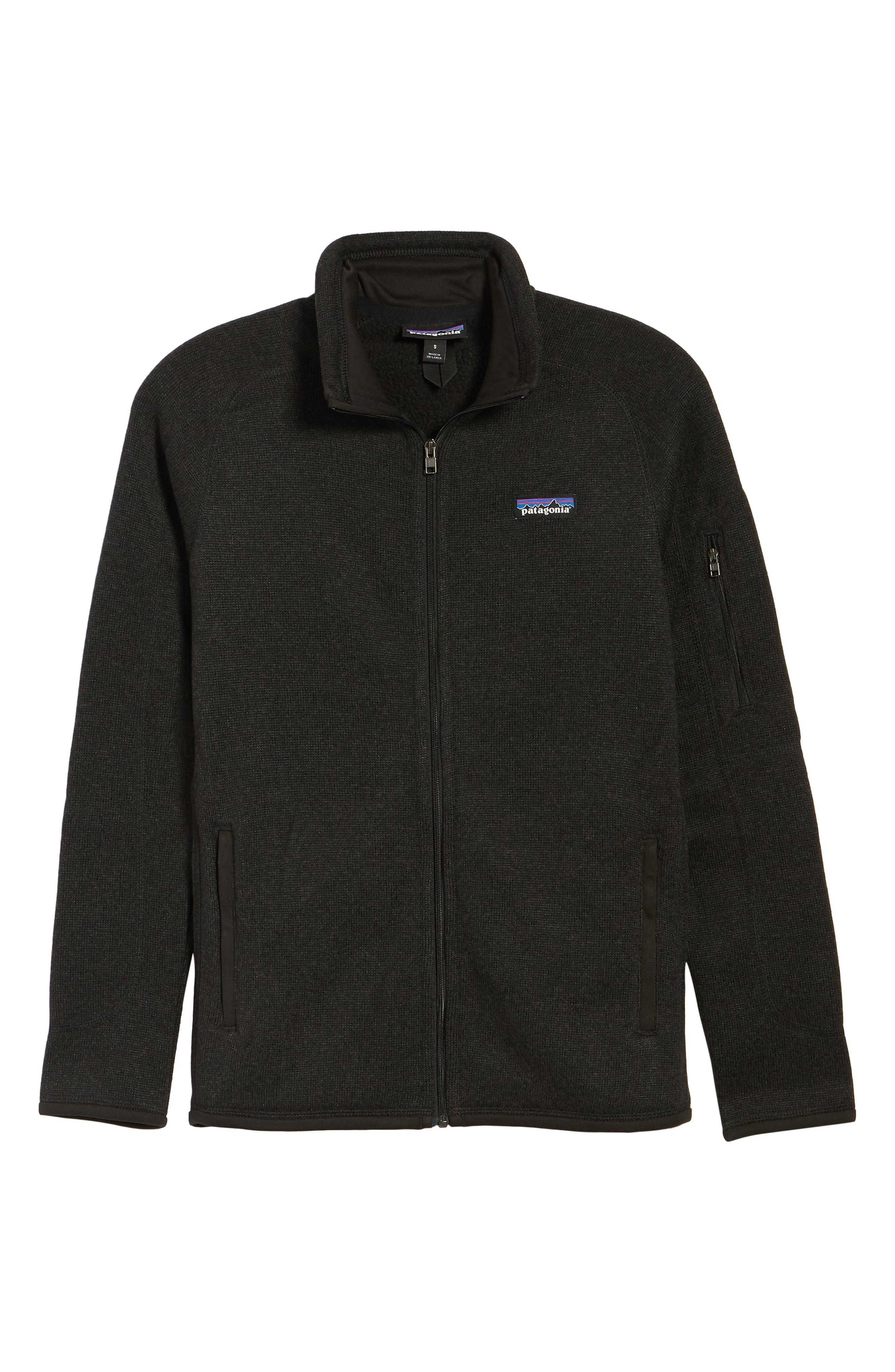 PATAGONIA, 'BetterSweater' Jacket, Alternate thumbnail 2, color, BLACK