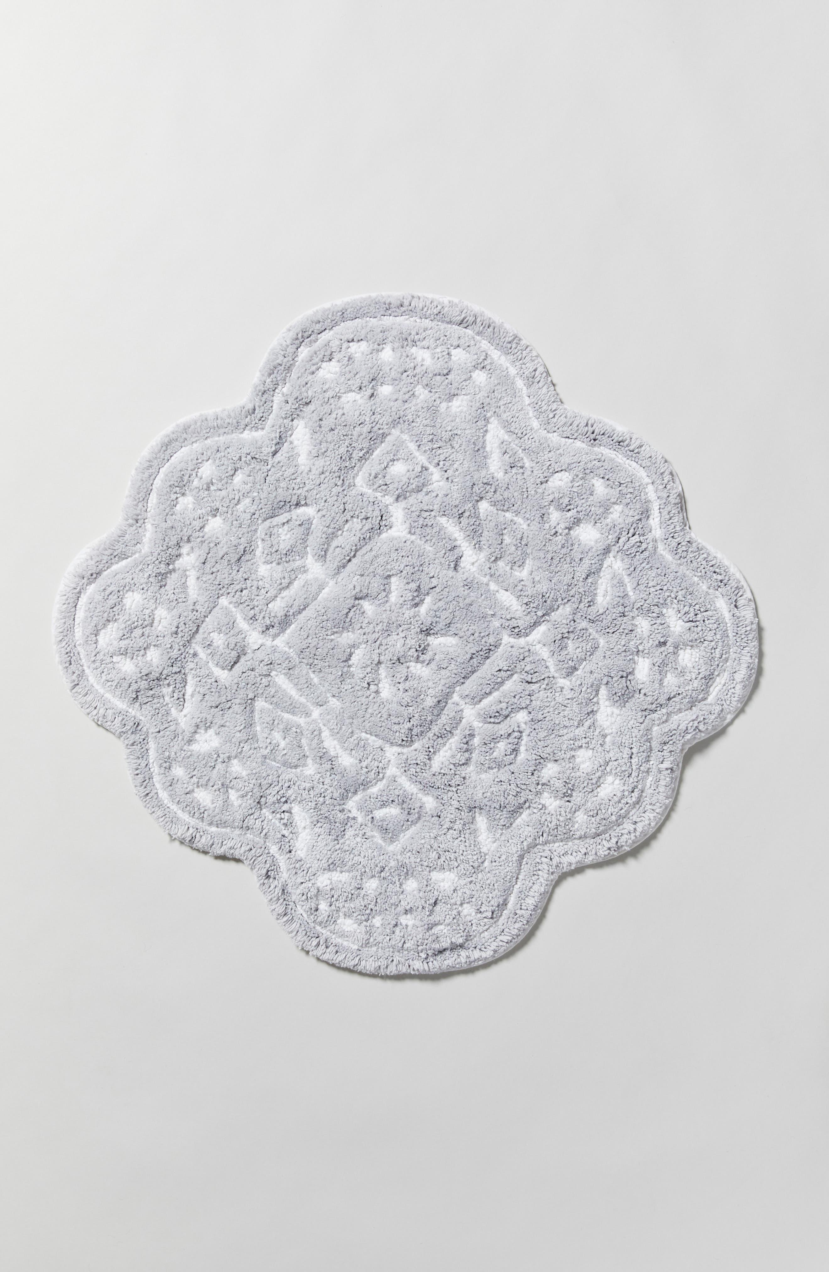 ANTHROPOLOGIE, Mosaic Tile Bath Mat, Alternate thumbnail 4, color, GREY