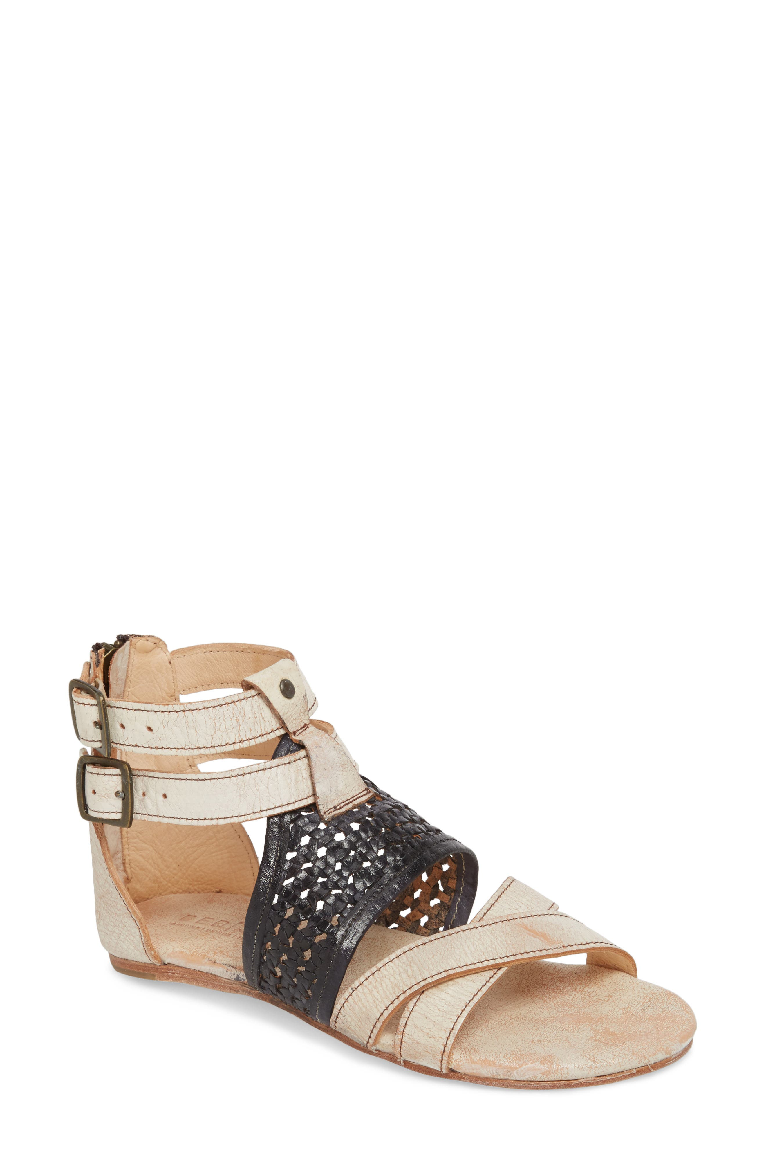 BED STU Capriana Sandal, Main, color, NECTAR/ NAVY LEATHER