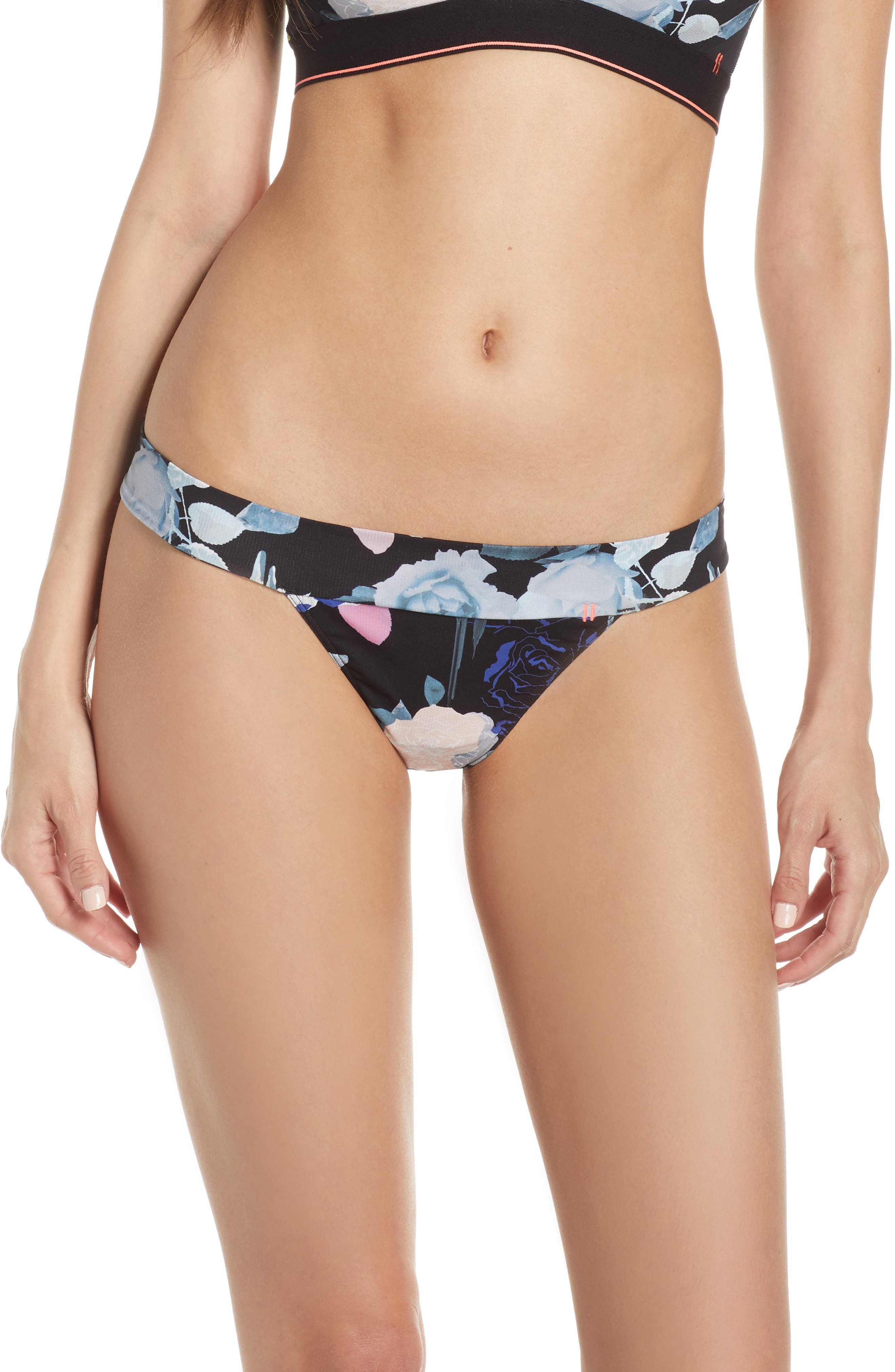 STANCE, Wide Side Thong, Main thumbnail 1, color, MELROSE FLORAL BLACK