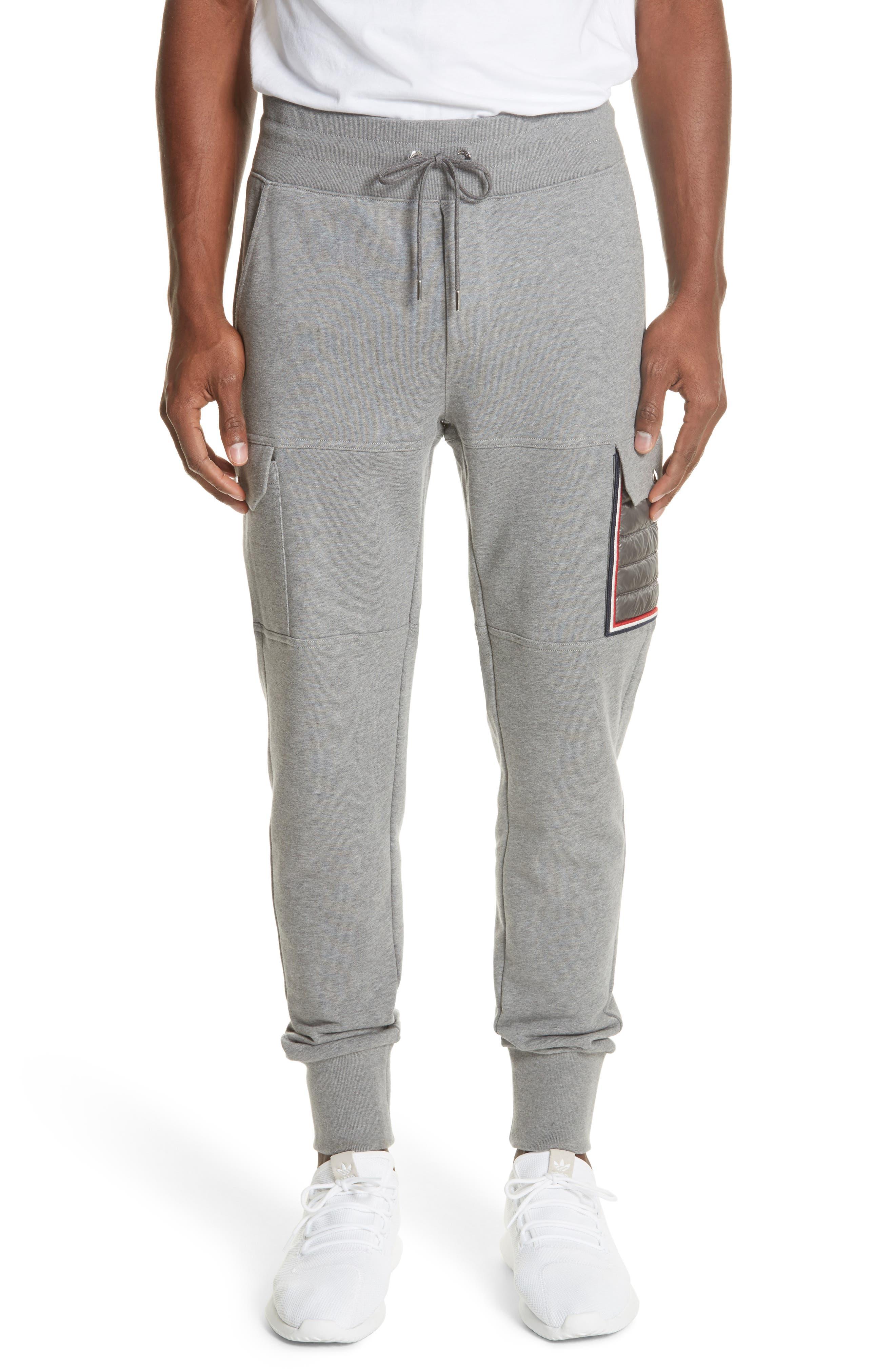 Moncler Cargo Sweatpants, Grey