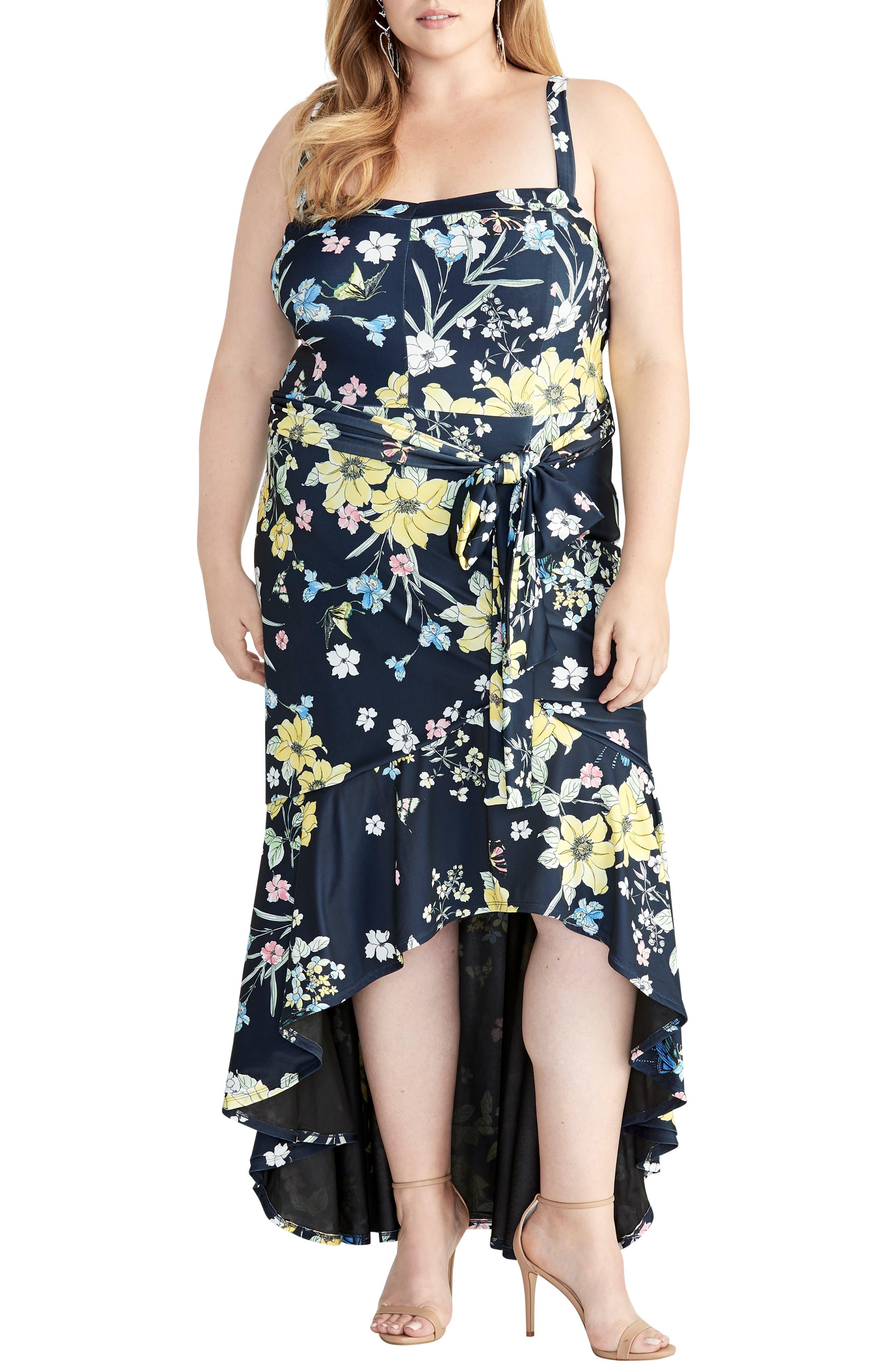 Plus Size Rachel Rachel Roy Tie Waist High/low Sundress, Blue