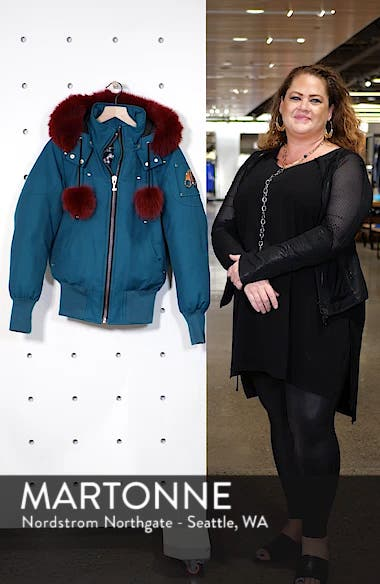 Yorkdale Genuine Fox Fur Trim Down Jacket, sales video thumbnail