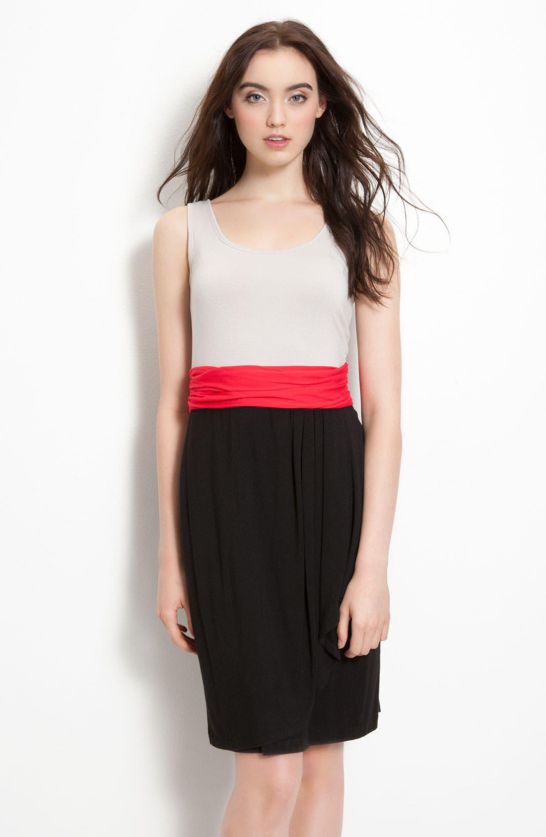 DKNYC, Sleeveless V-Neck Dress, Main thumbnail 1, color, 600