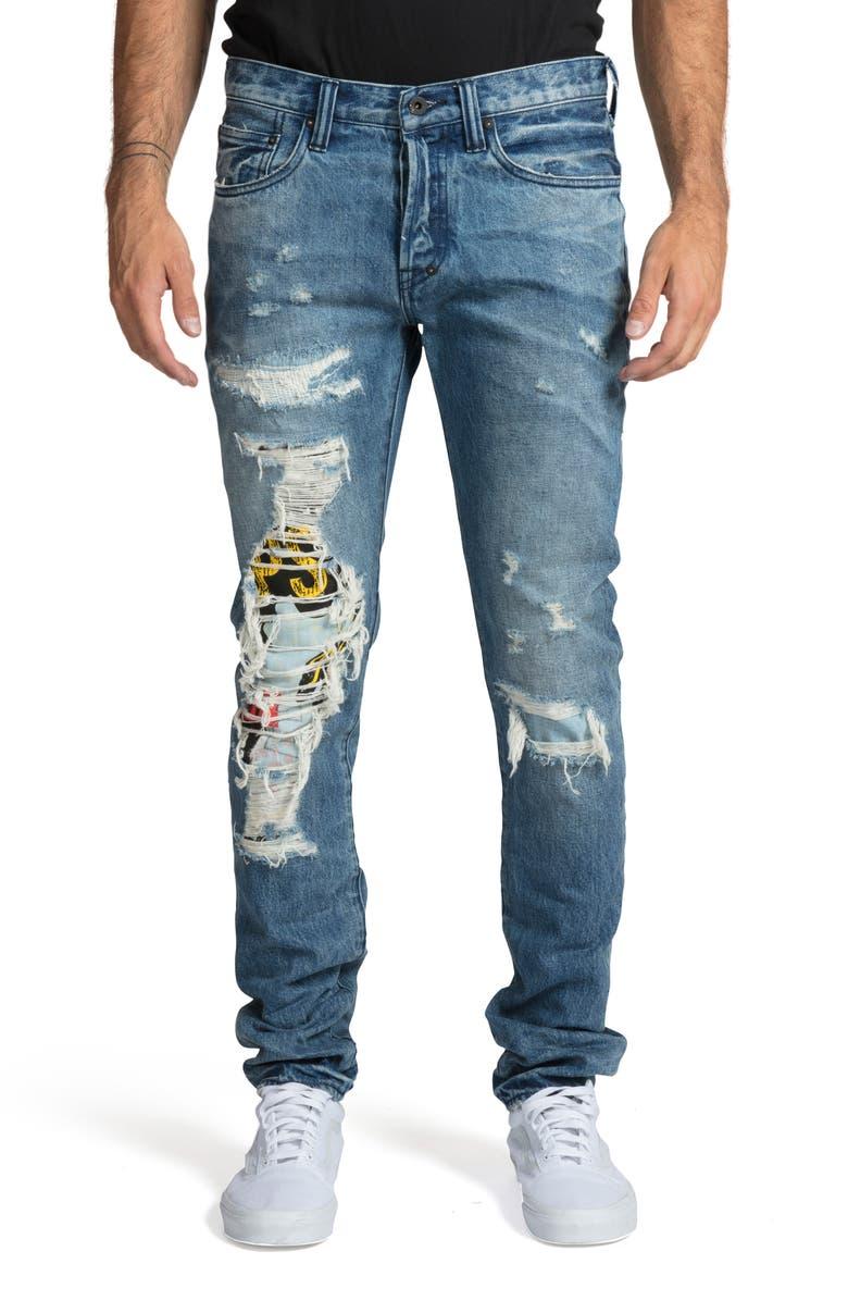 PRPS Le Sabre Slim Fit Jeans, Main, color, WIND CHILL