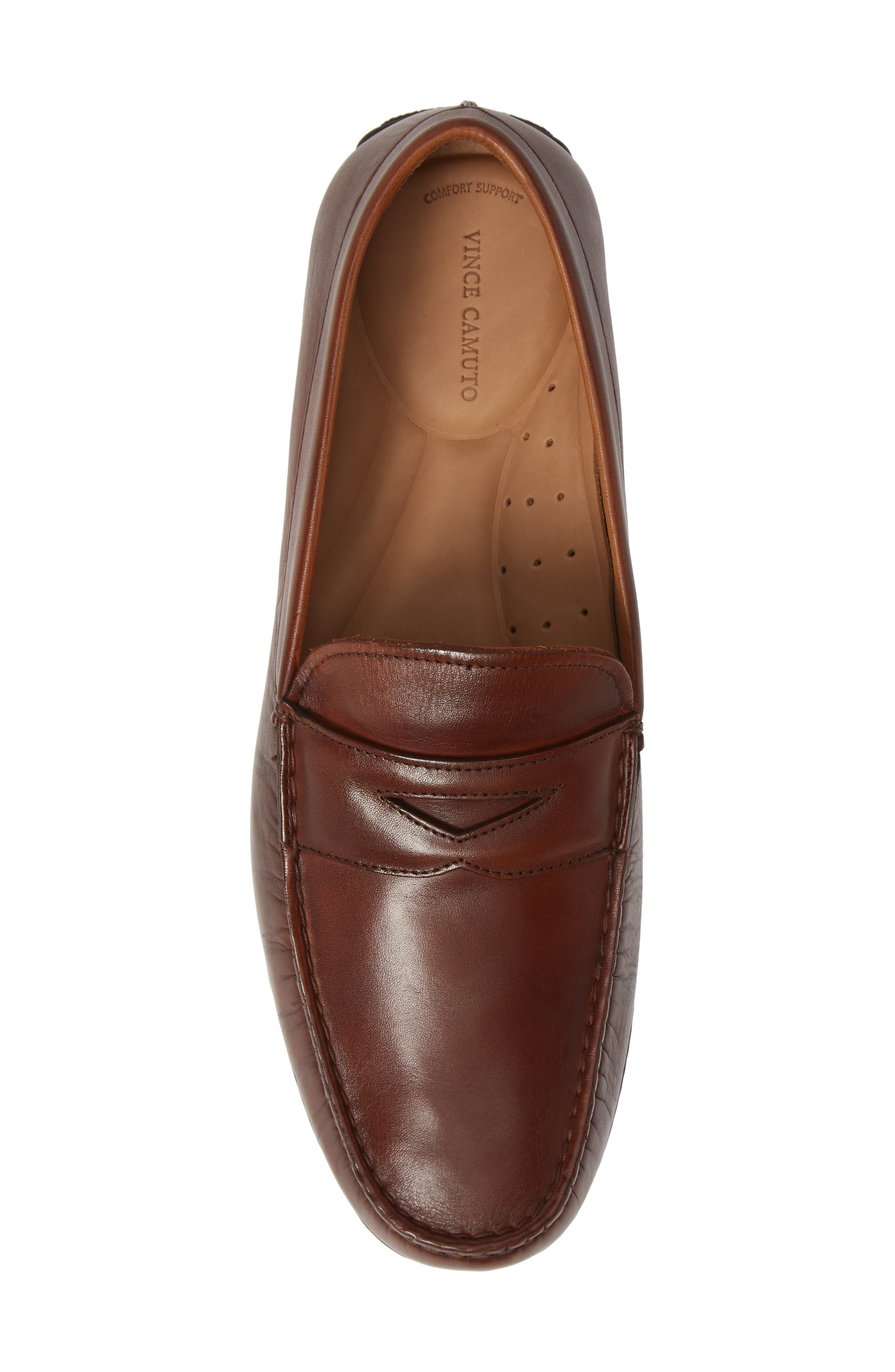 VINCE CAMUTO, Ditto Driving Shoe, Alternate thumbnail 5, color, COGNAC LEATHER