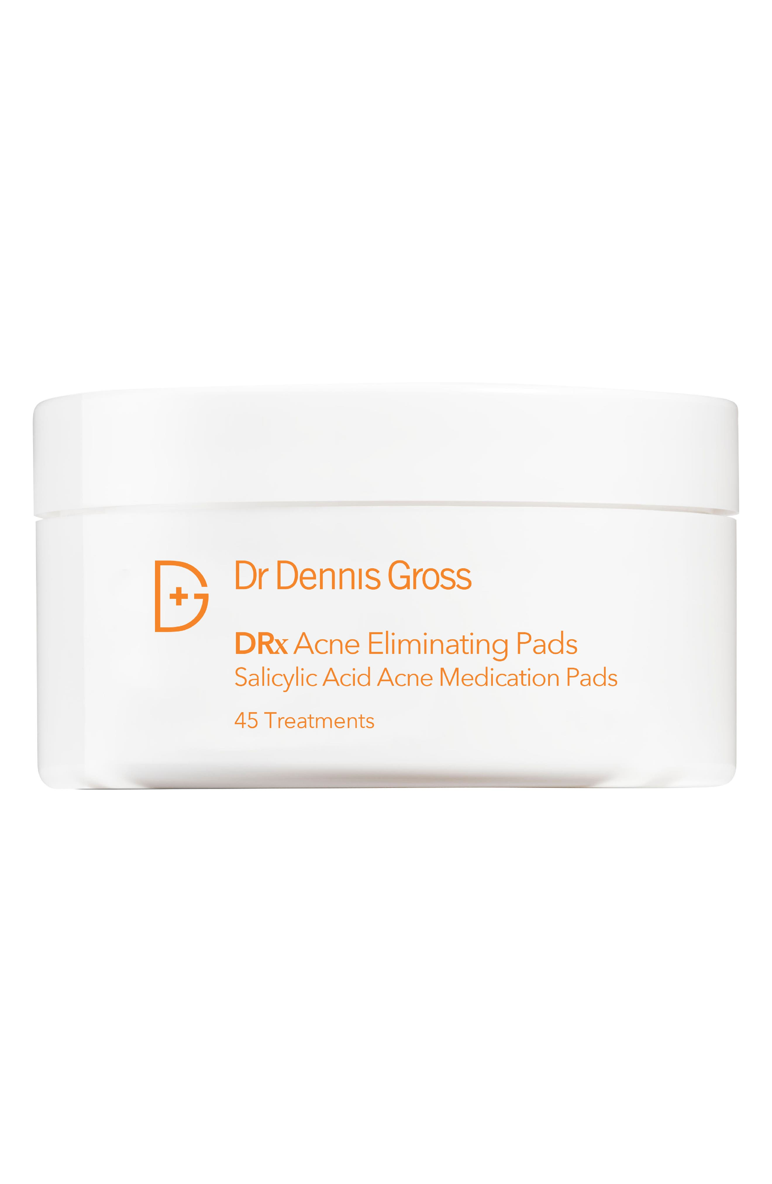 DR. DENNIS GROSS SKINCARE One Step Acne Eliminating Pads - 45 Applications, Main, color, NO COLOR
