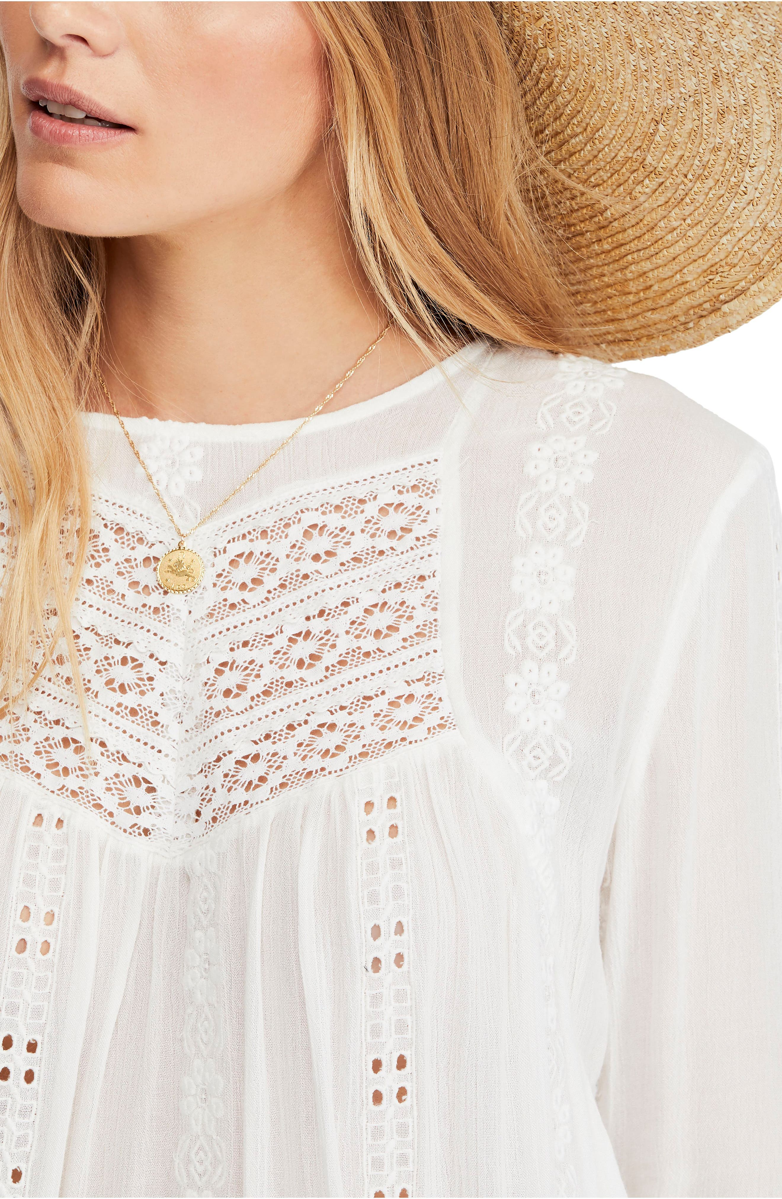 FREE PEOPLE, Kiss Kiss Tunic, Alternate thumbnail 4, color, 103