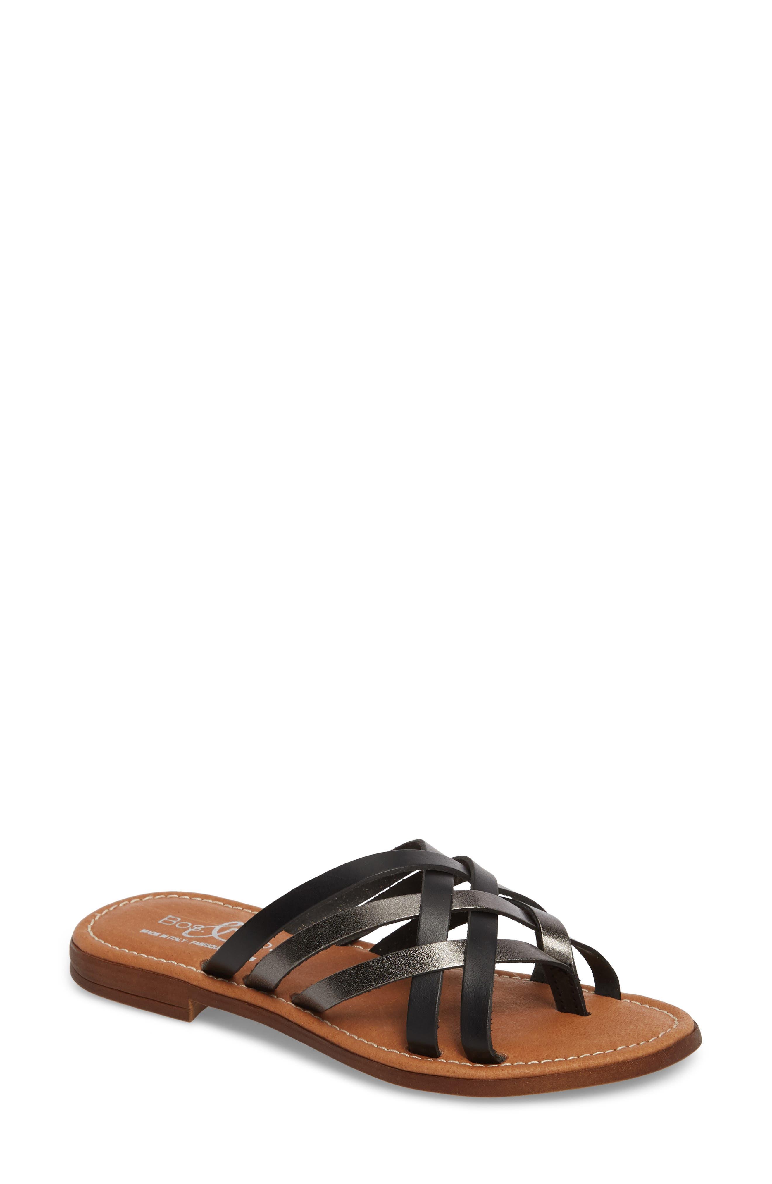 Bos. & Co. Inola Slide Sandal - Black