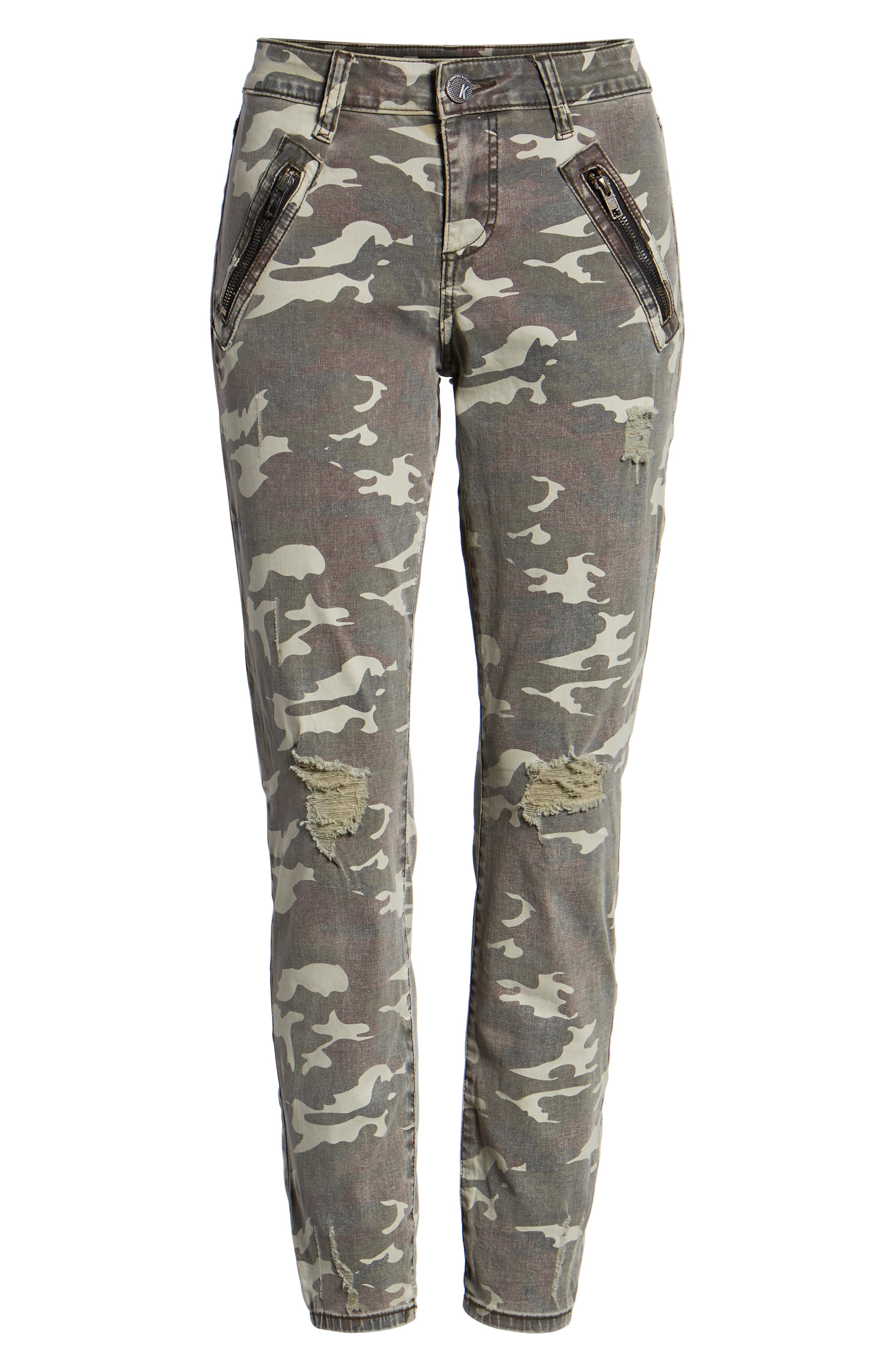 KUT FROM THE KLOTH, Connie Ankle Skinny Camo Jeans, Alternate thumbnail 6, color, 317