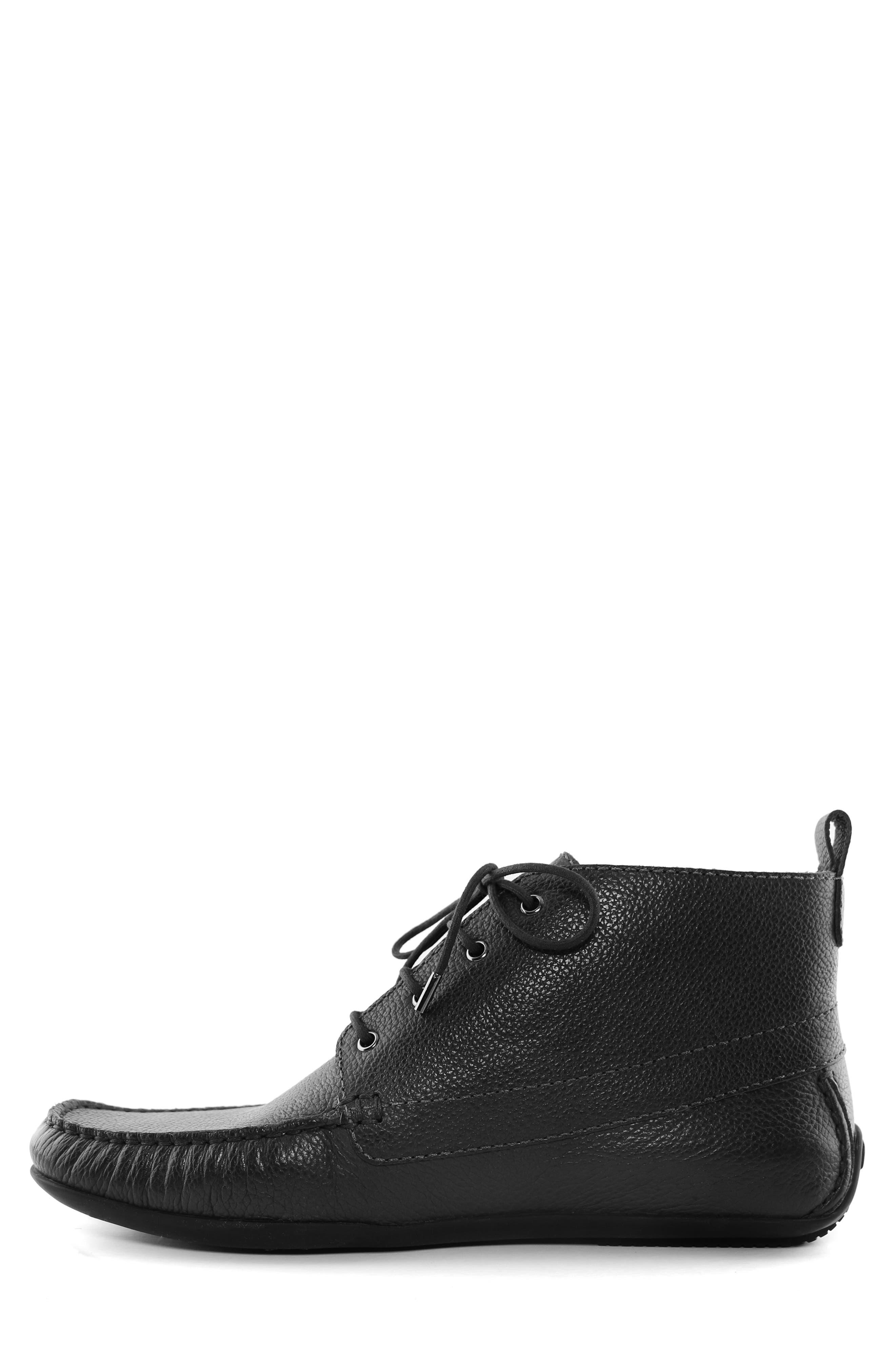 MARC JOSEPH NEW YORK, Soho Boot 2 Chukka Boot, Alternate thumbnail 8, color, BLACK LEATHER