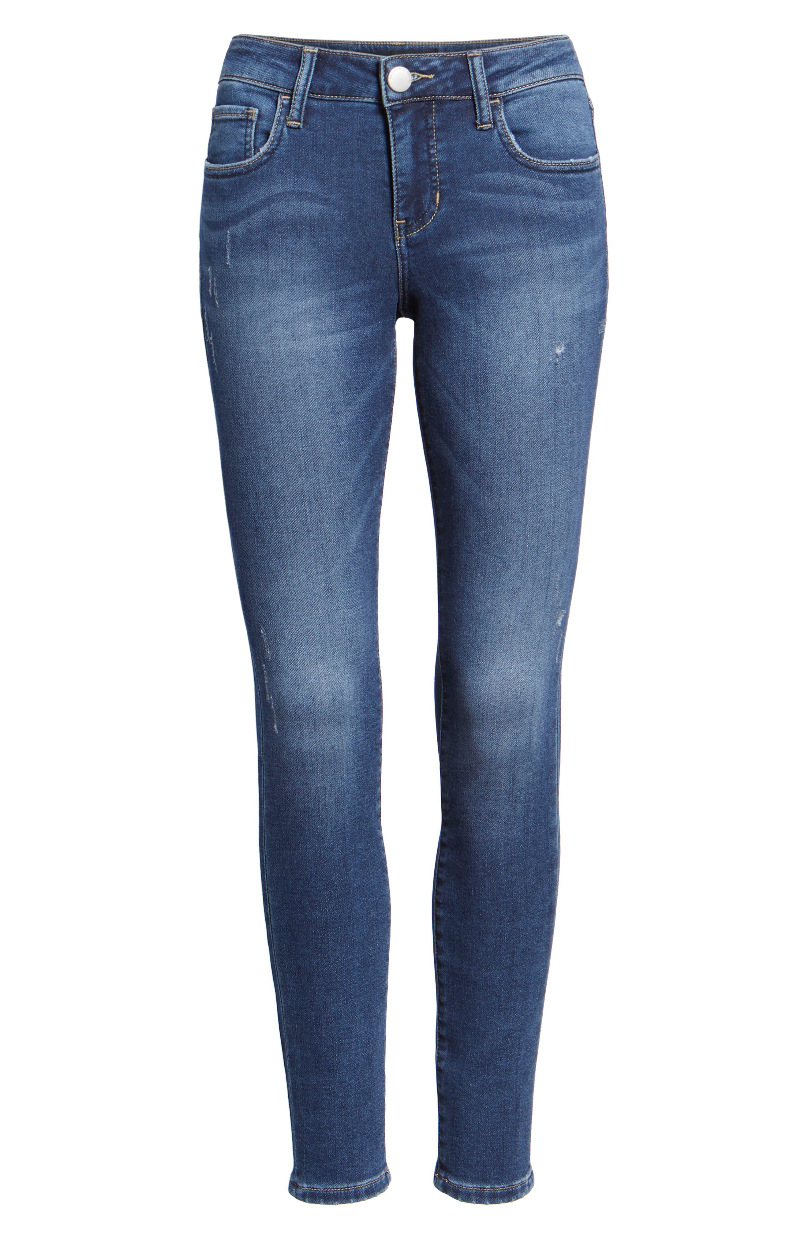 PROSPERITY DENIM, Skinny Jeans, Alternate thumbnail 6, color, DARK