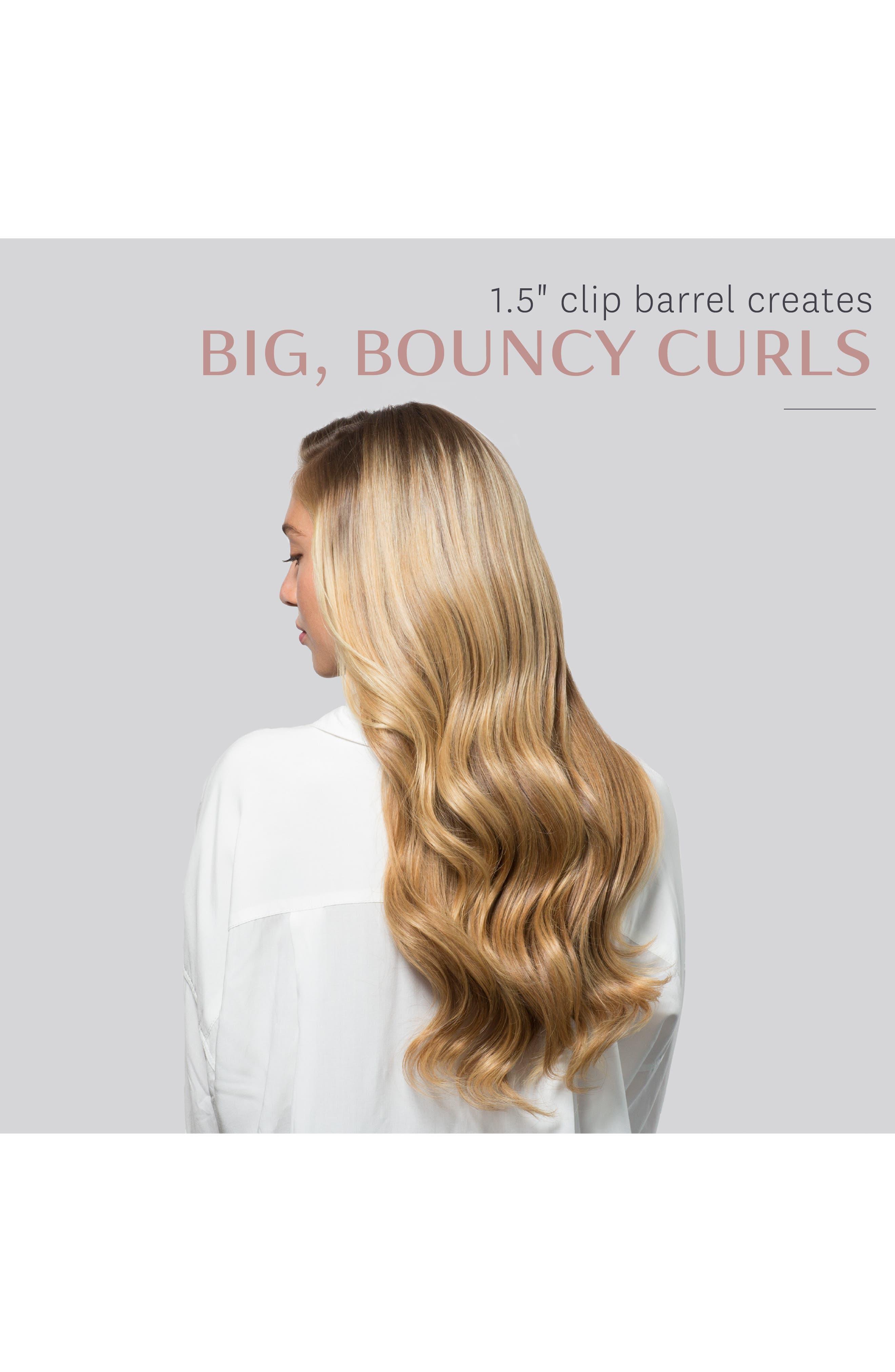 T3, Voluminous Curls 1.5-Inch Interchangeable Clip Curling Iron Barrel, Alternate thumbnail 5, color, NO COLOR