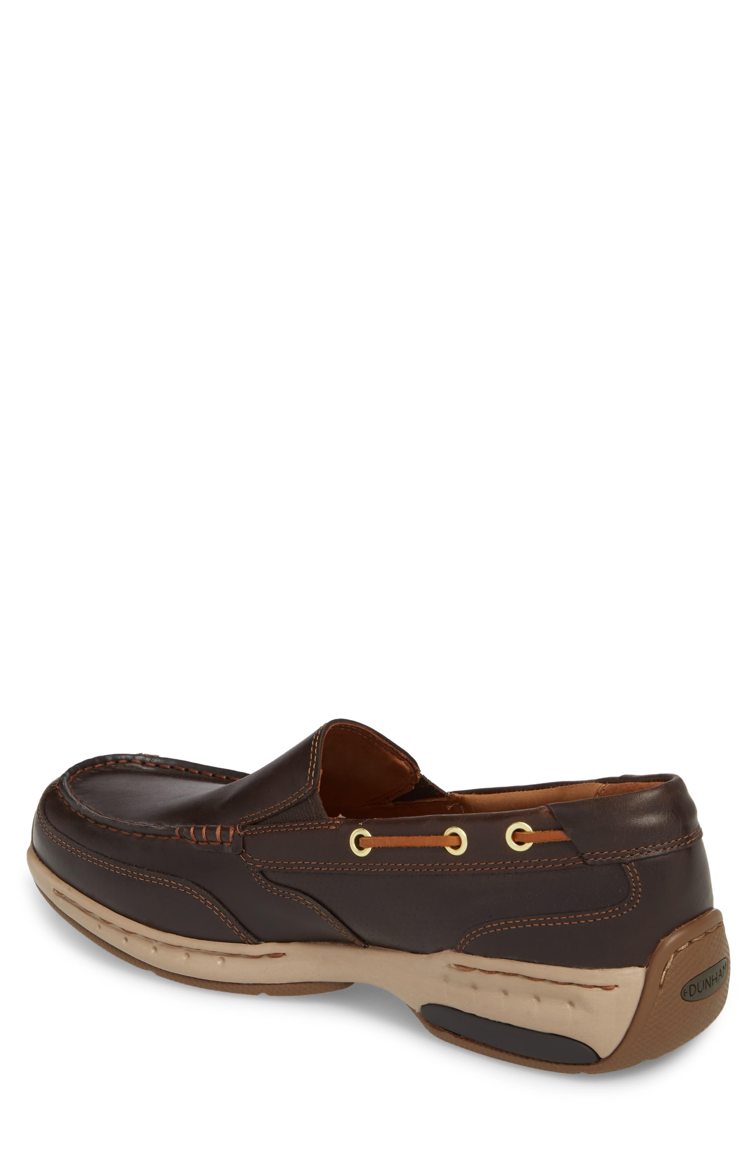 DUNHAM, Waterford Water Resistant Slip-On, Alternate thumbnail 2, color, TAN LEATHER