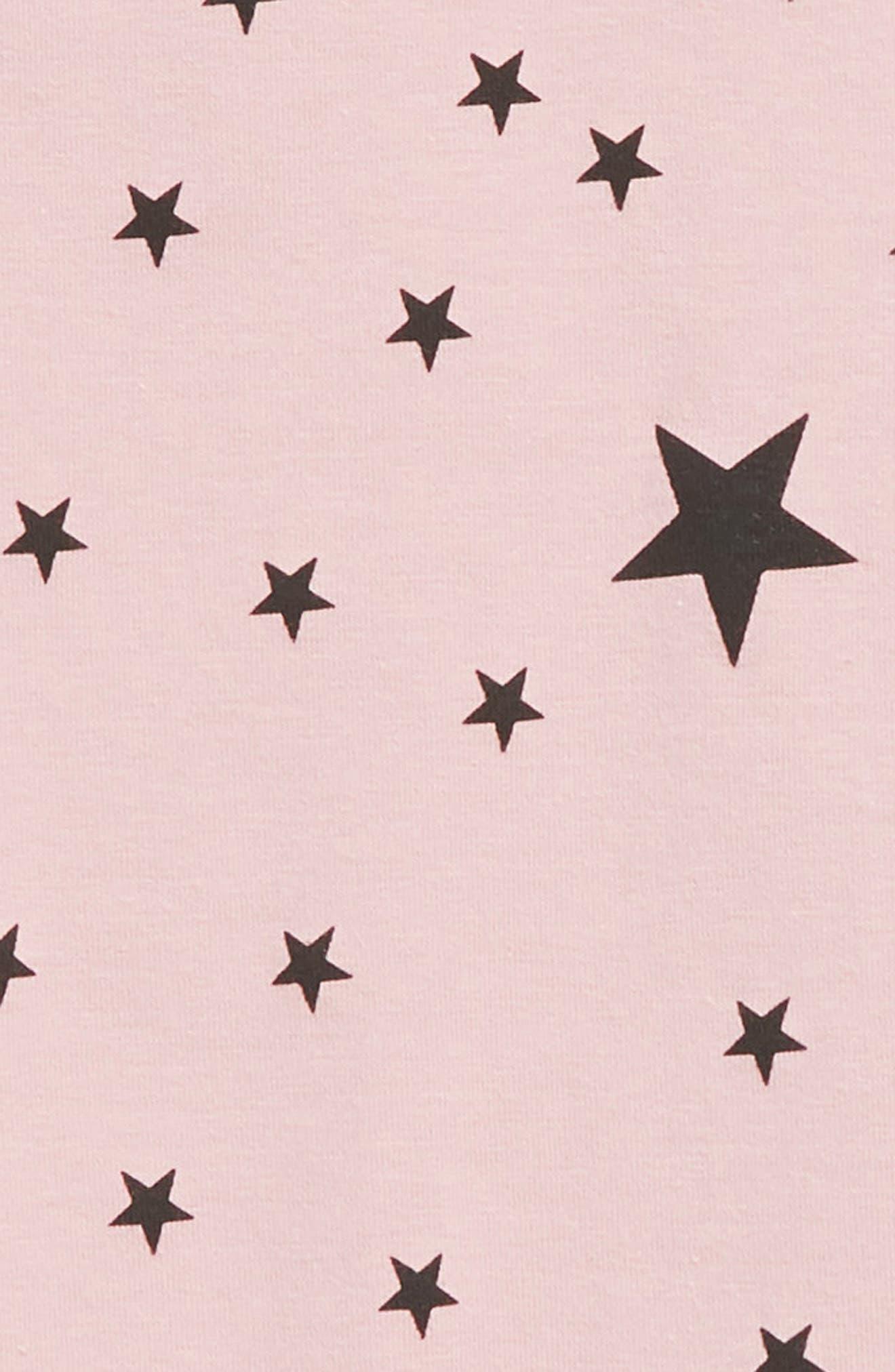 TINY TRIBE, Star Romper, Alternate thumbnail 3, color, PINK