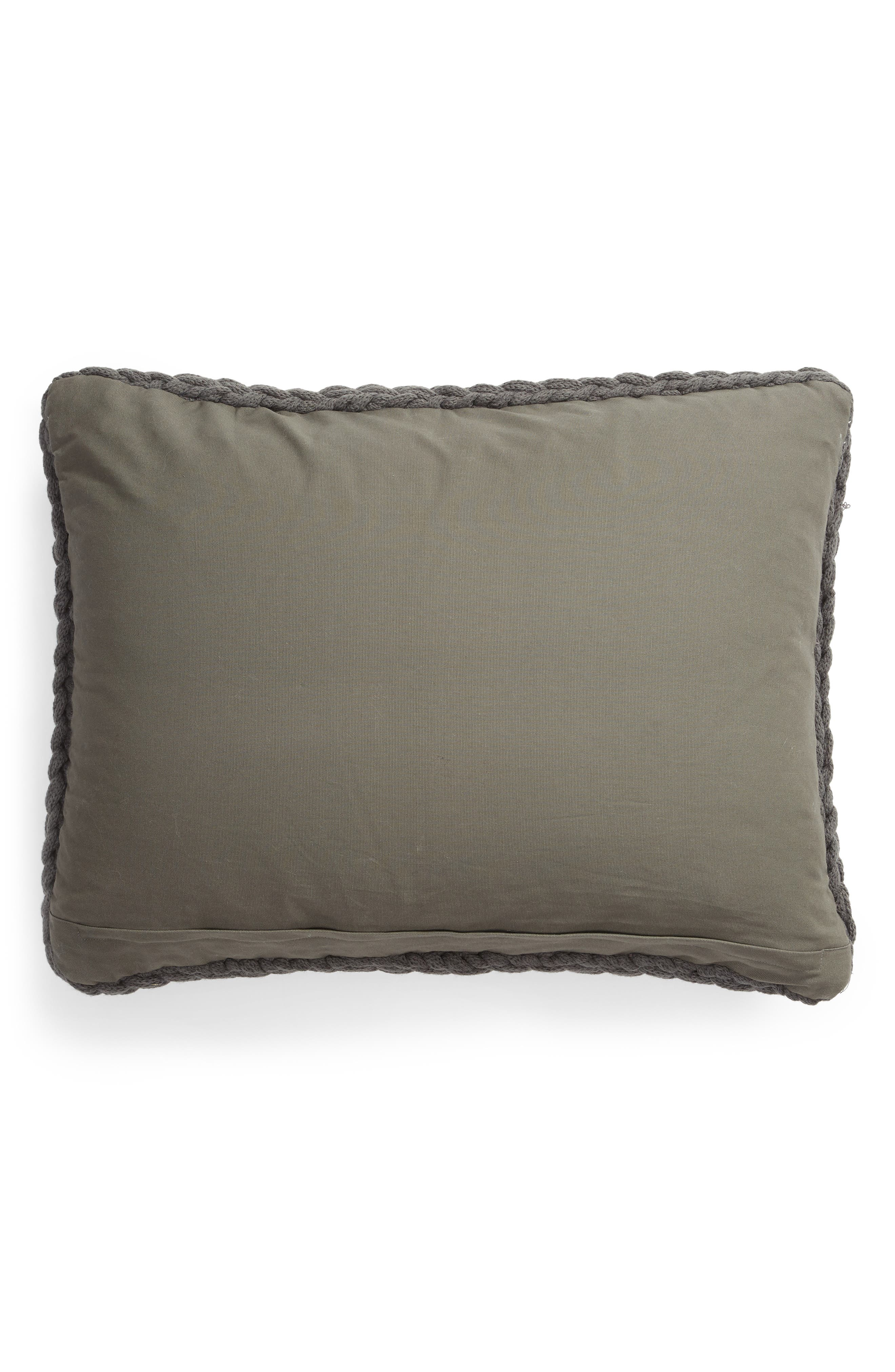 TREASURE & BOND, Jersey Rope Pillow, Alternate thumbnail 2, color, GREY ONYX