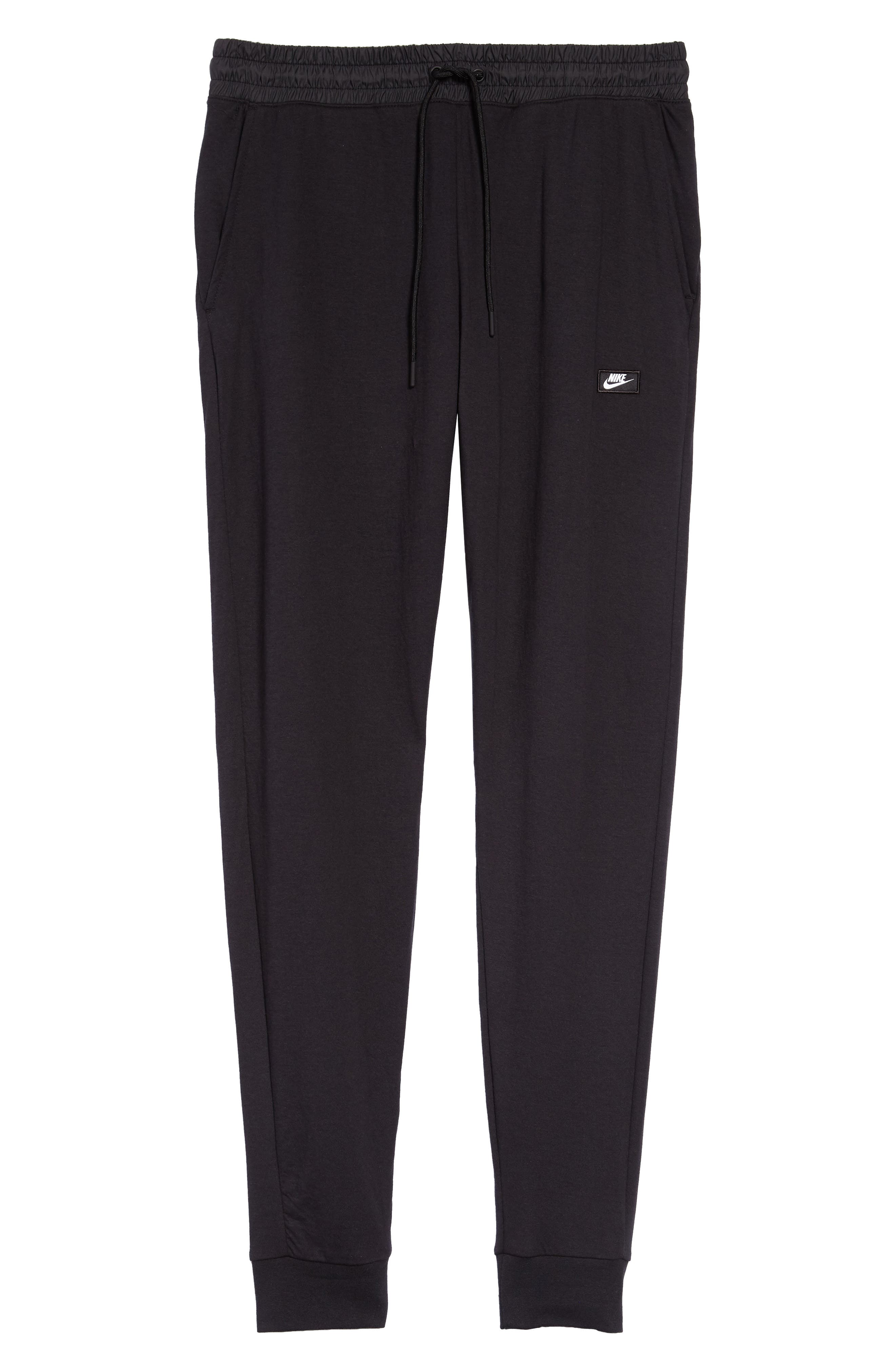 NIKE, Modern Jogger Pants, Alternate thumbnail 7, color, BLACK/ BLACK