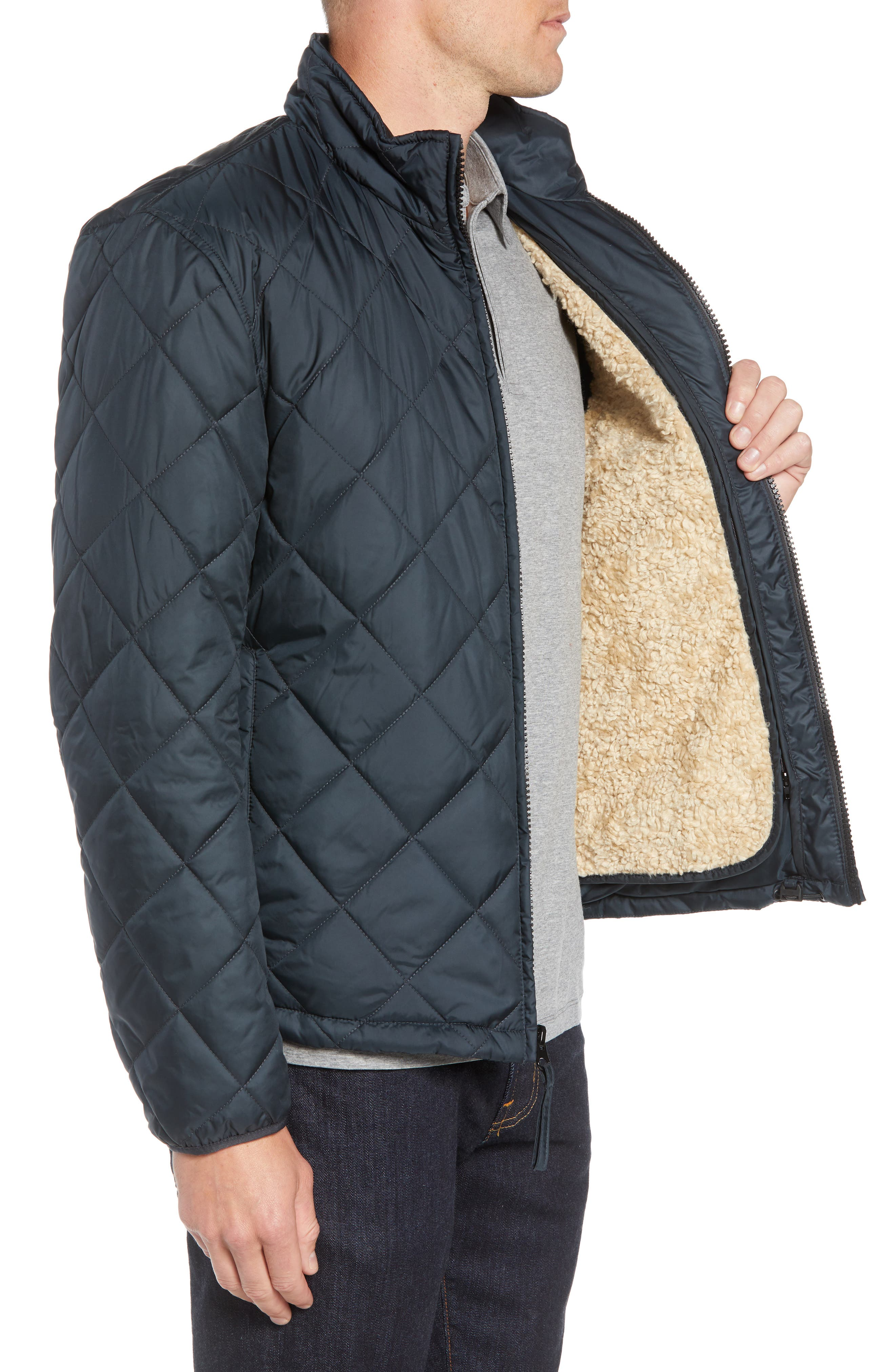 MARC NEW YORK, Humboldt Quilted Jacket, Alternate thumbnail 4, color, BLACK