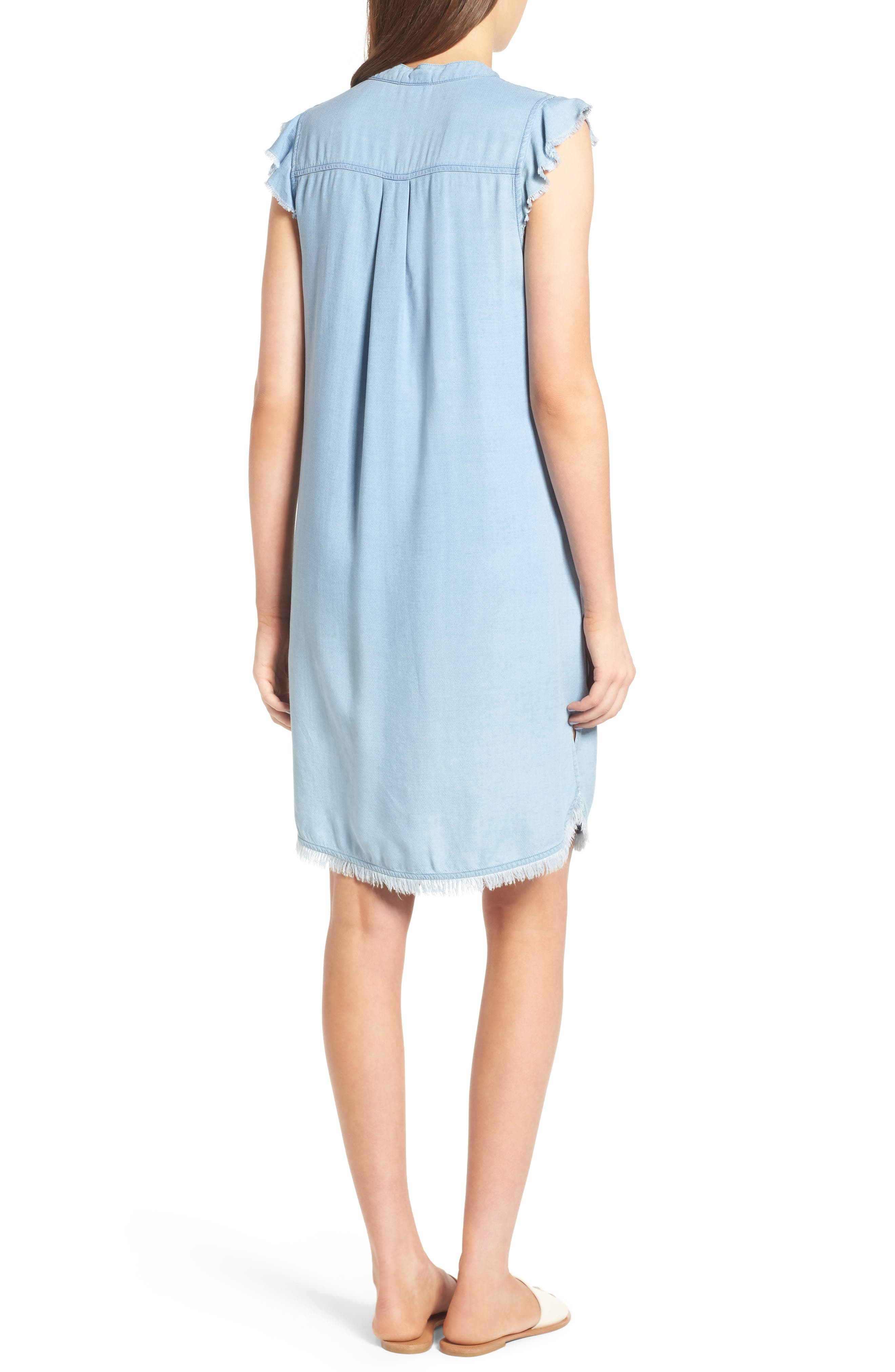 SPLENDID, Chambray Shift Dress, Alternate thumbnail 2, color, 400