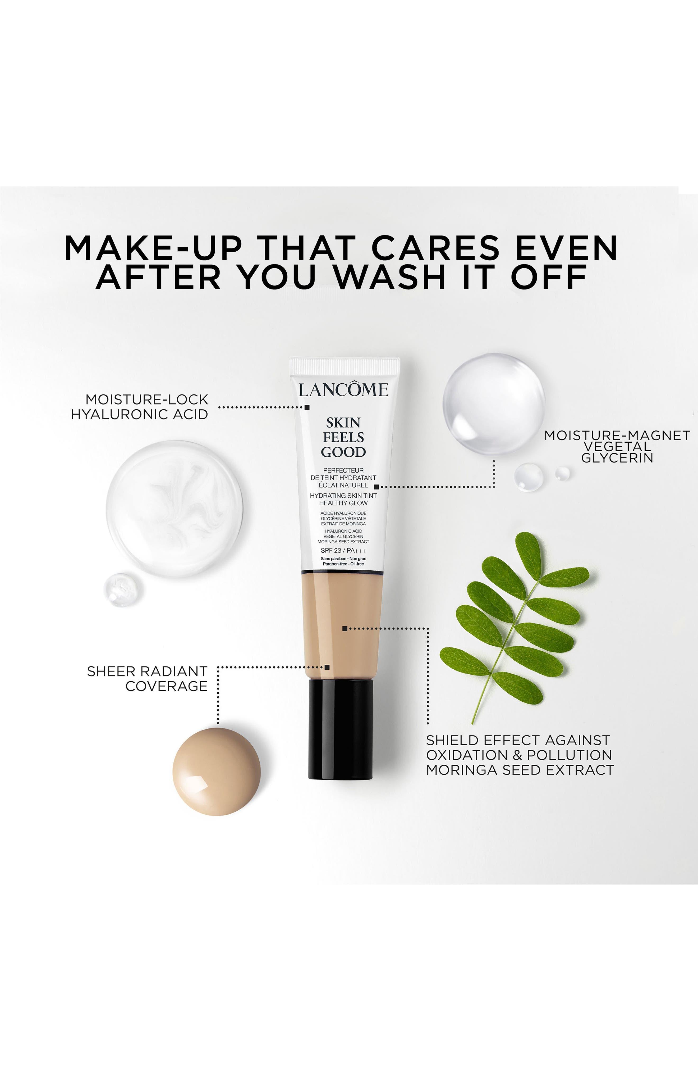 LANCÔME, Skin Feels Good Hydrating Skin Tint Healthy Glow SPF 23, Alternate thumbnail 6, color, 05N RADIANT TAN