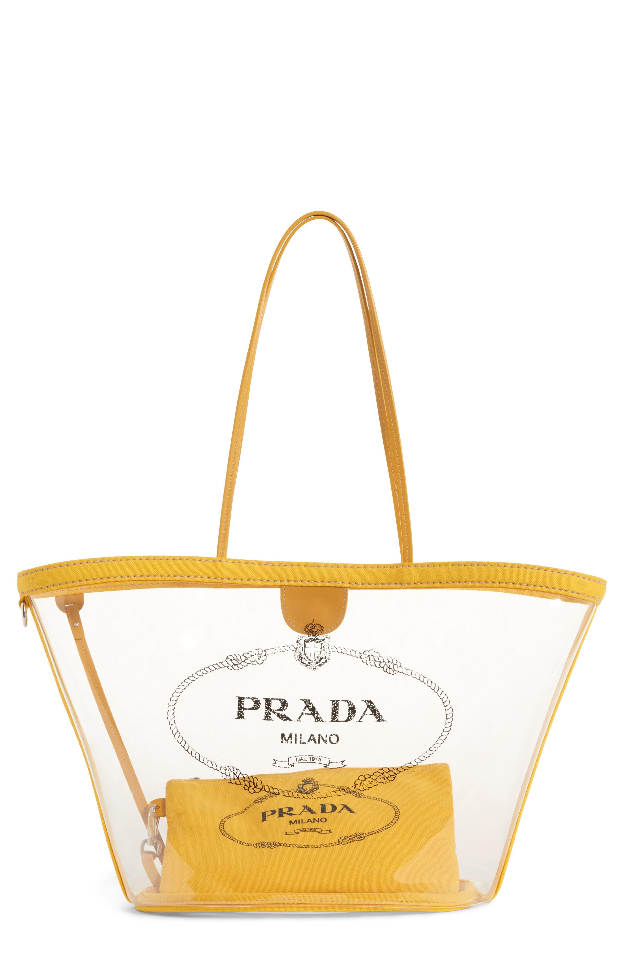 PRADA Small Plex Shopper, Main, color, SOLEIL